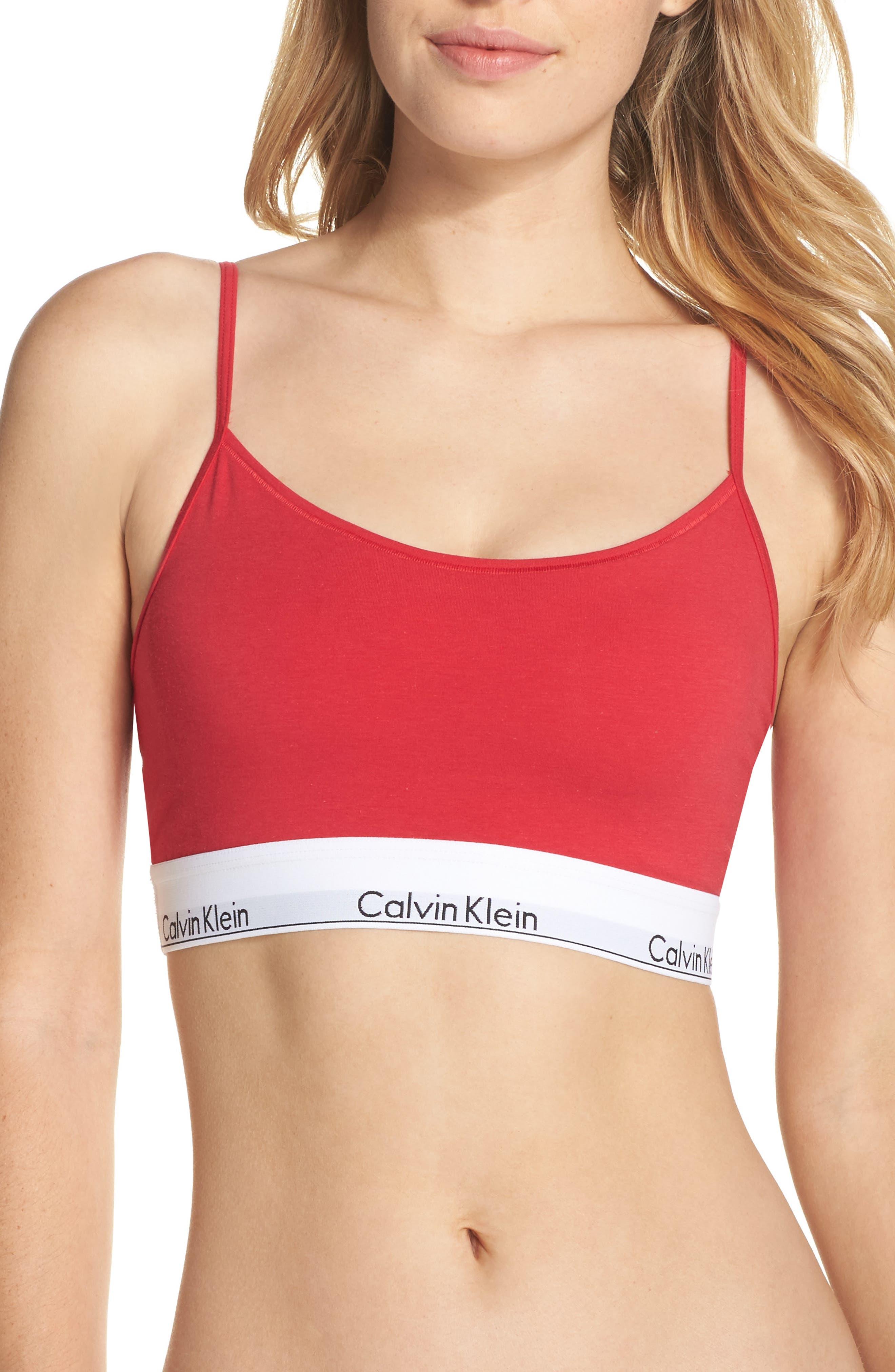 Modern Cotton Bralette,                         Main,                         color, Empower