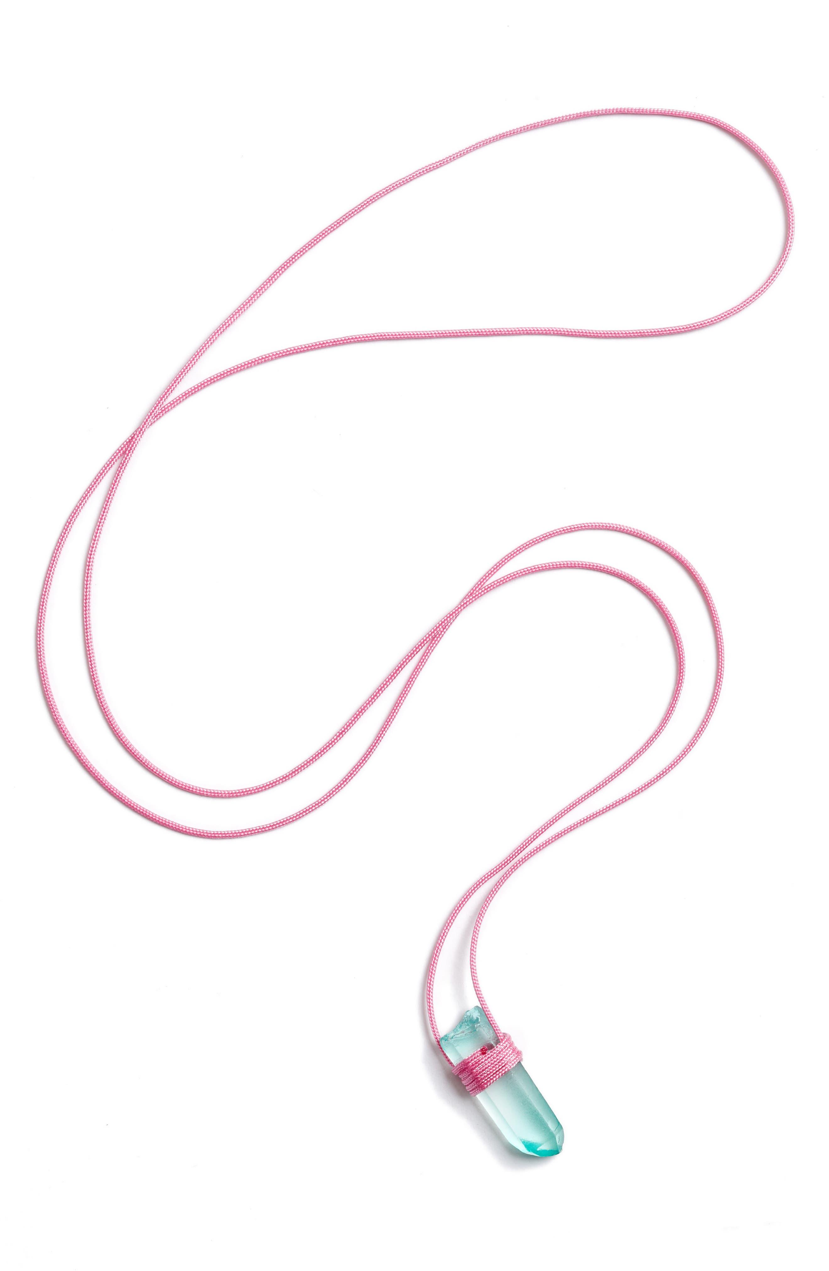 Main Image - Tina Lilienthal Green Quartz Pendant Necklace