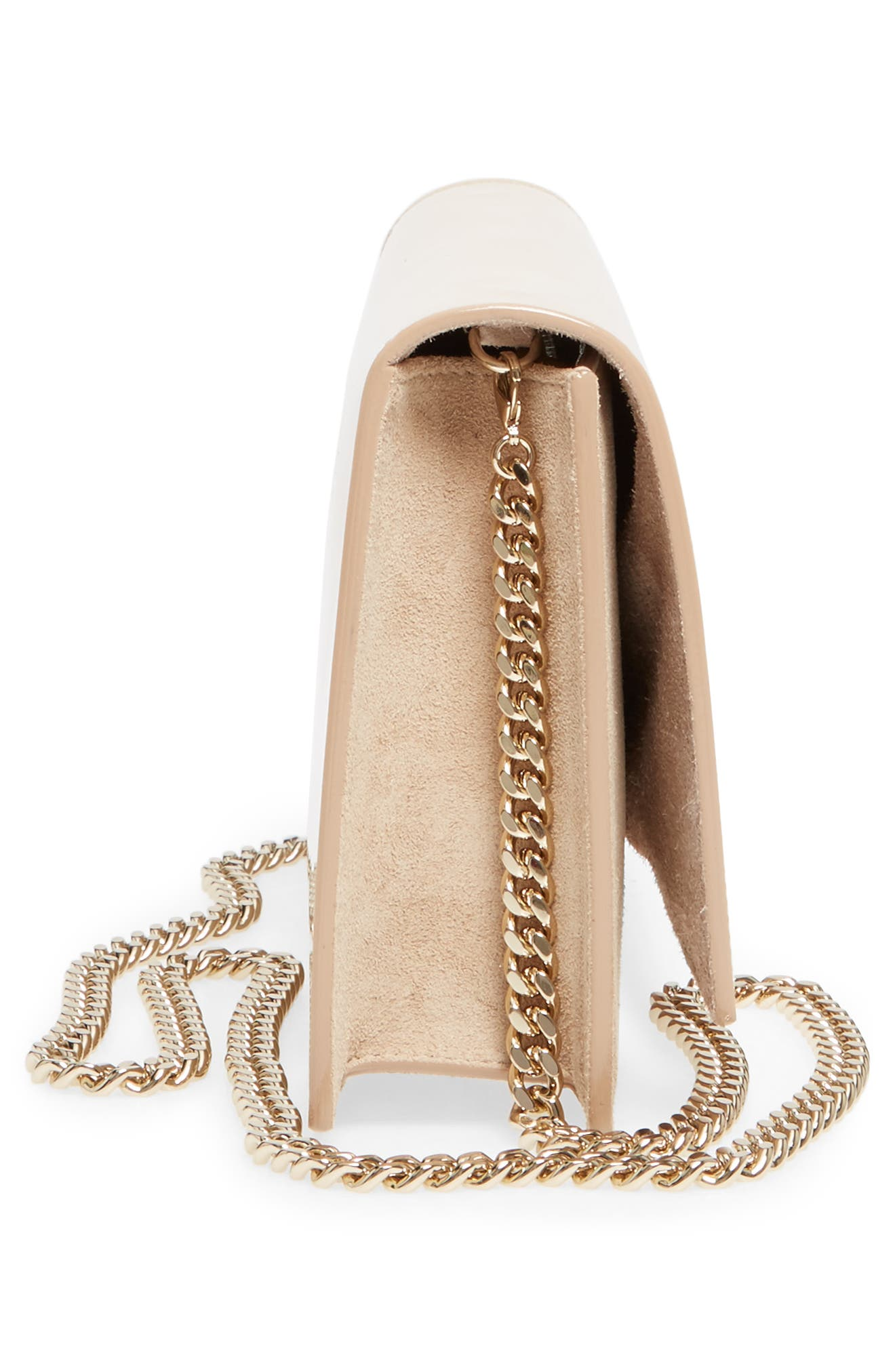 Alternate Image 5  - Jimmy Choo Florence Patent Leather & Suede Clutch