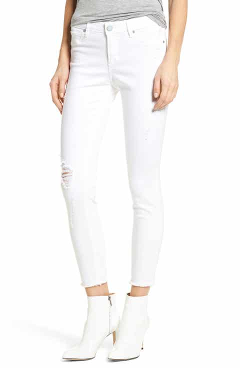 Articles of Society Carly Distressed Ankle Skinny Jeans (Cannes)