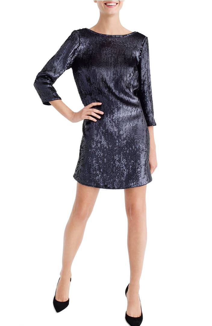 J.Crew V-Back Sequin Dress