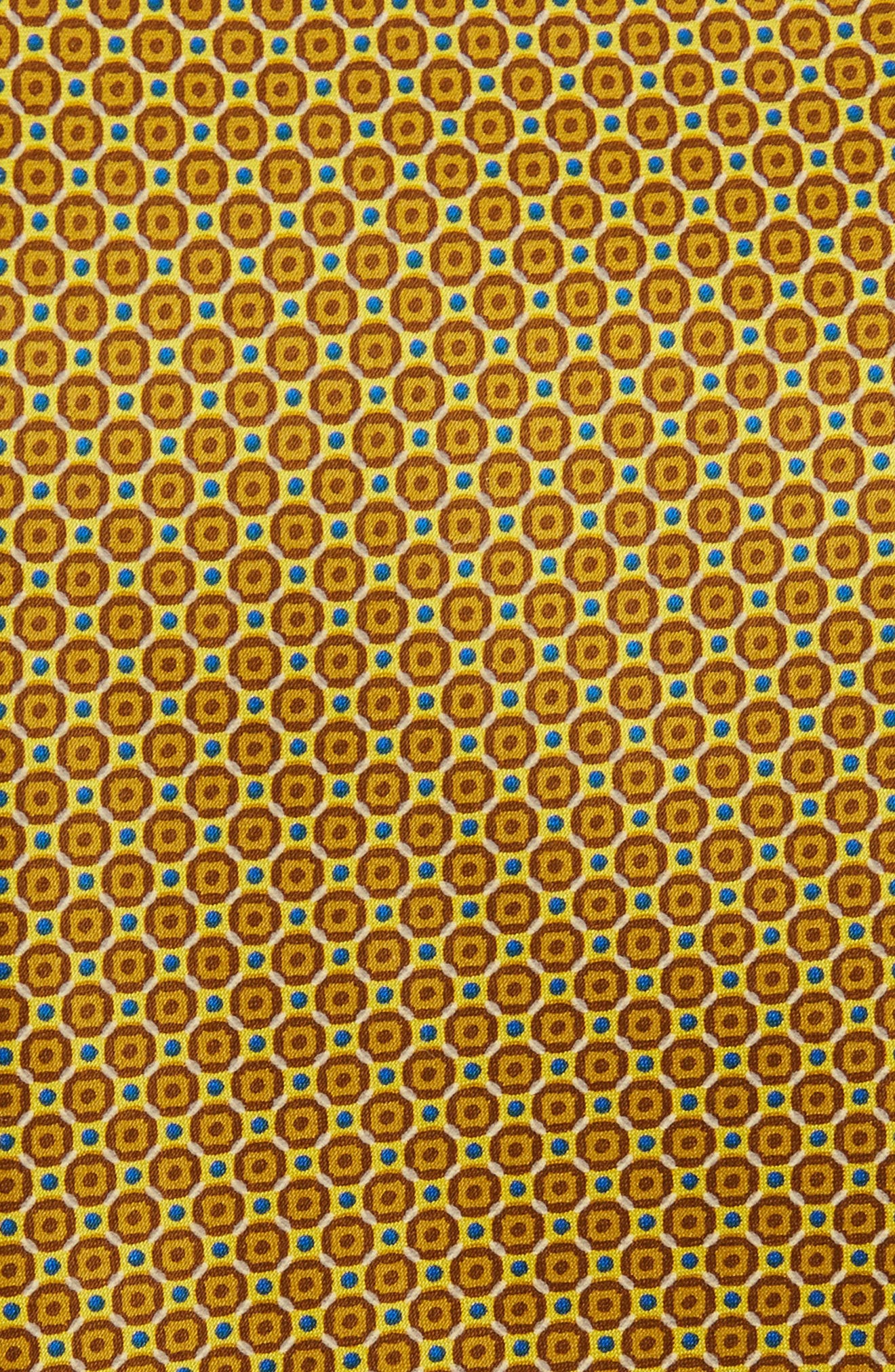 Medallion Silk Tie,                             Alternate thumbnail 2, color,                             Yellow