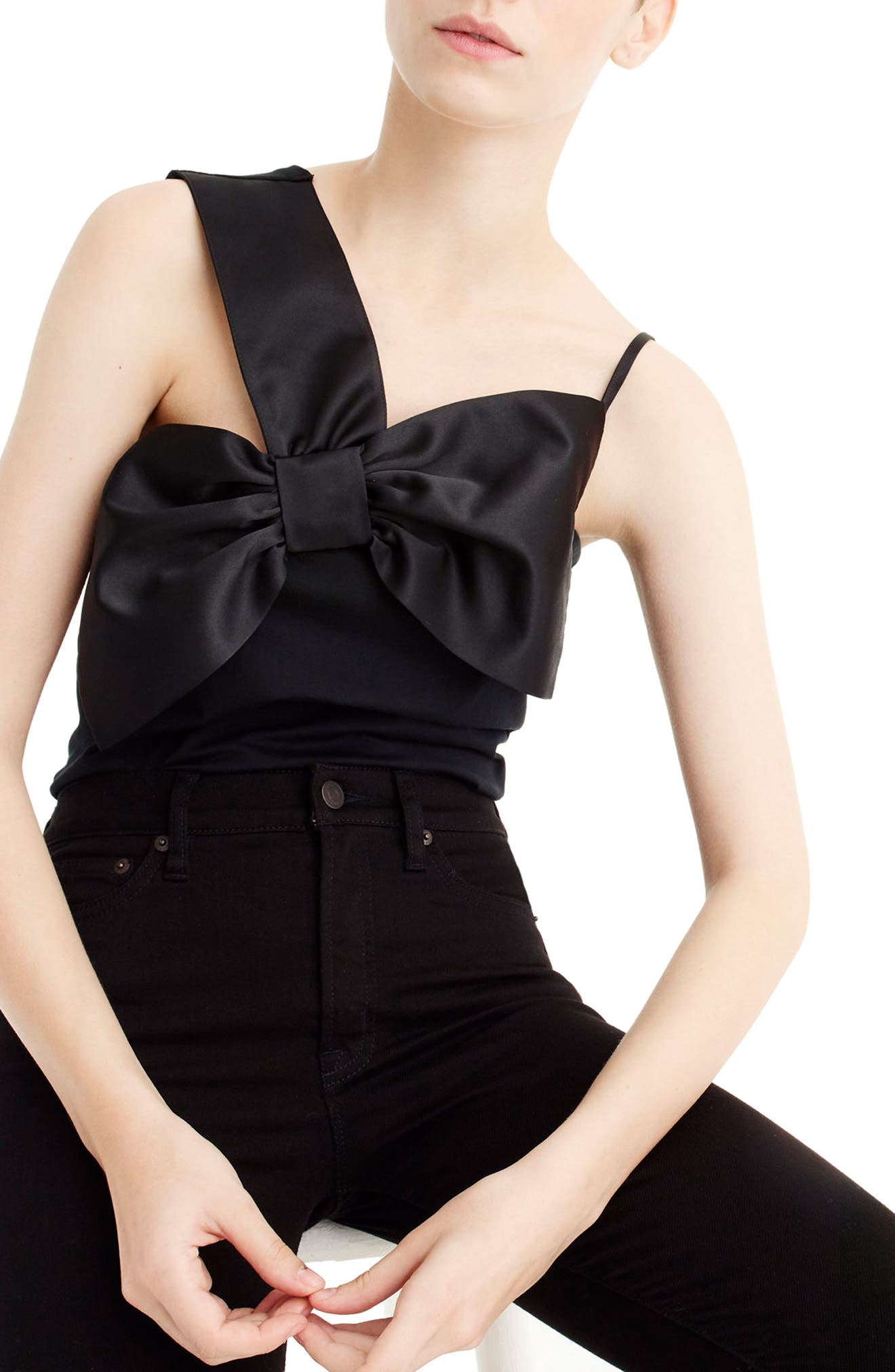 Main Image - J.Crew Asymmetrical Bow Top