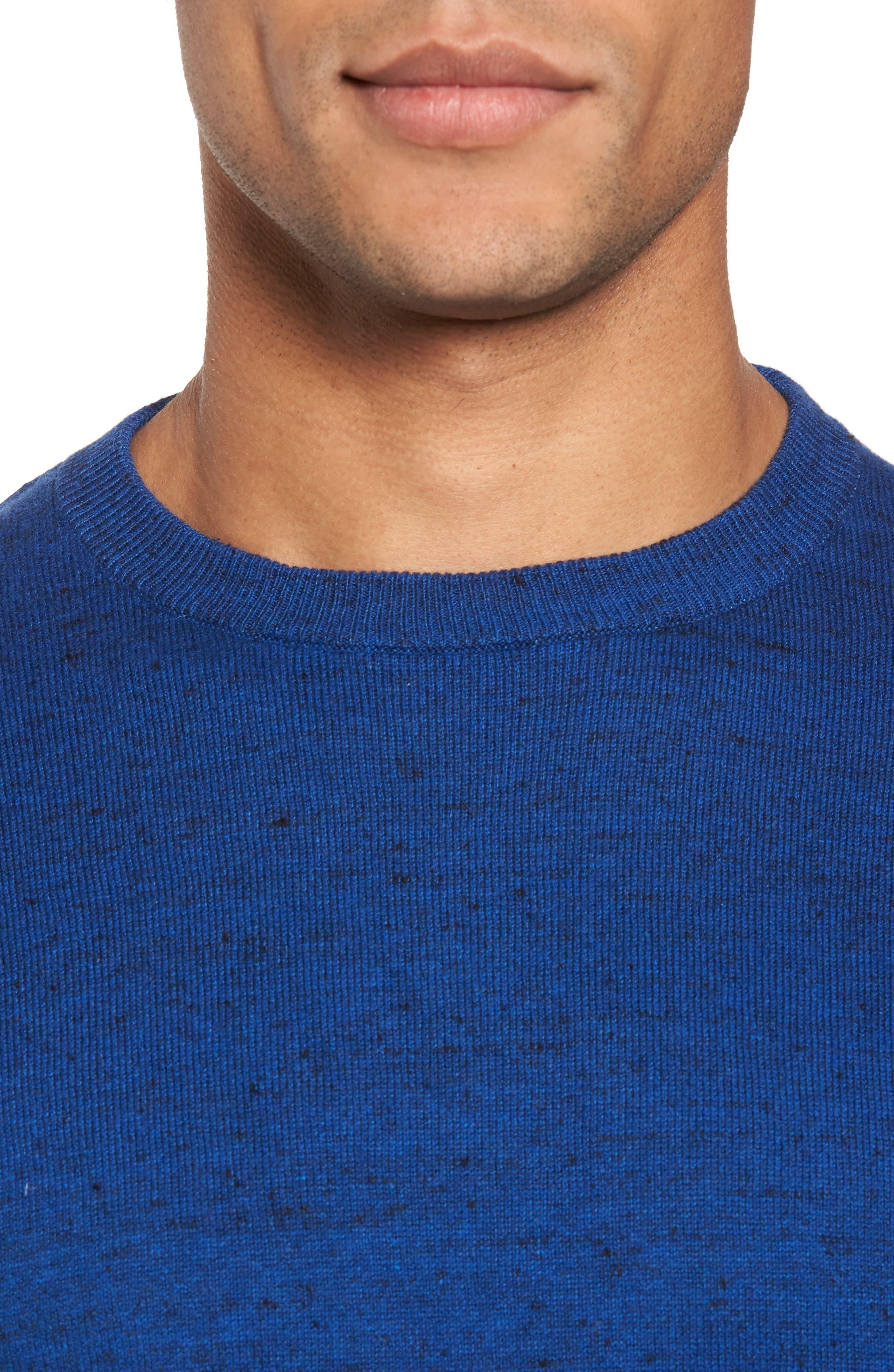 Alternate Image 4  - Nordstrom Men's Shop Cotton & Cashmere Crewneck Sweater (Regular & Tall)