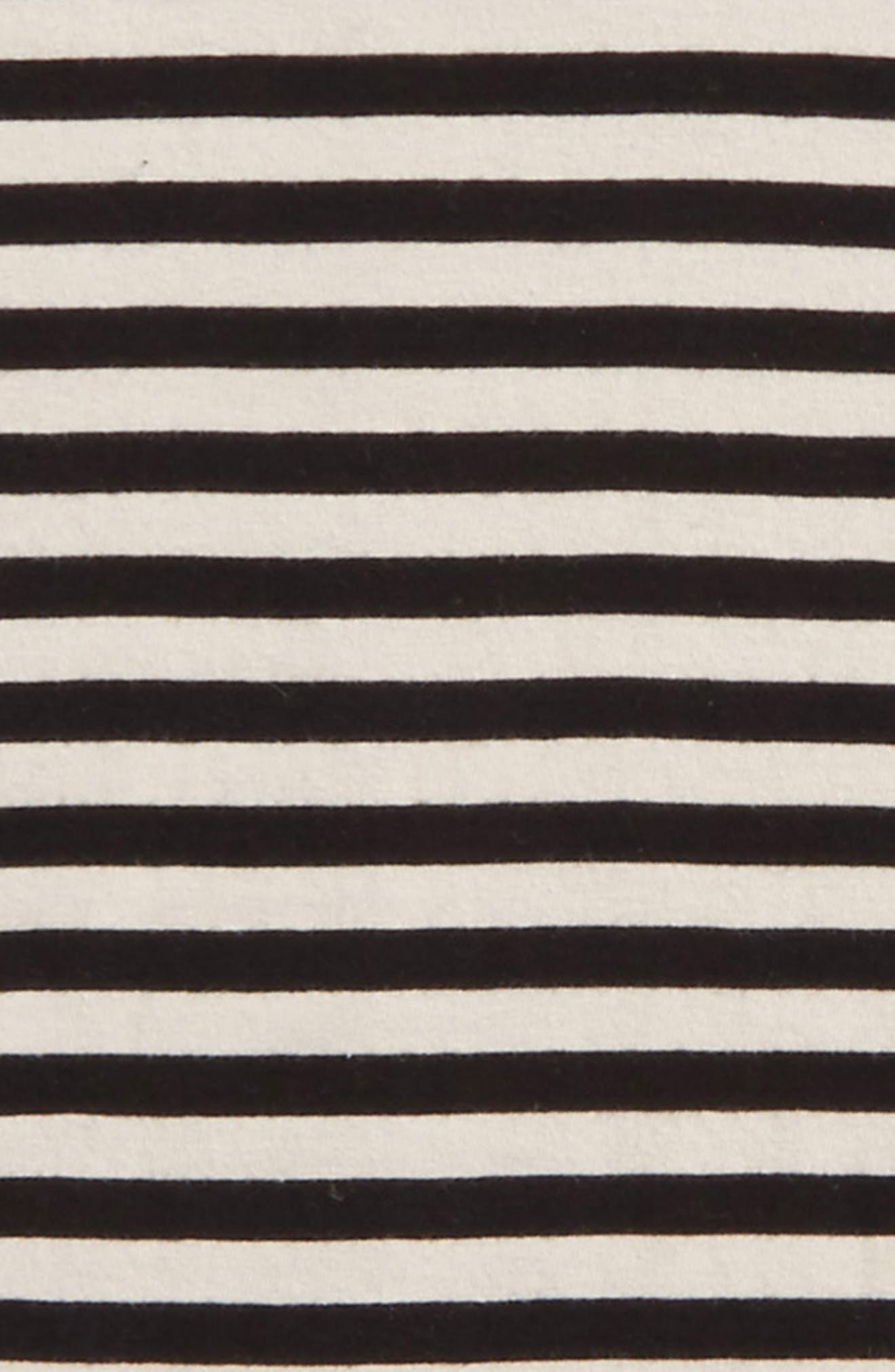 Stripe T-Shirt,                             Alternate thumbnail 2, color,                             Black- Grey Stripe