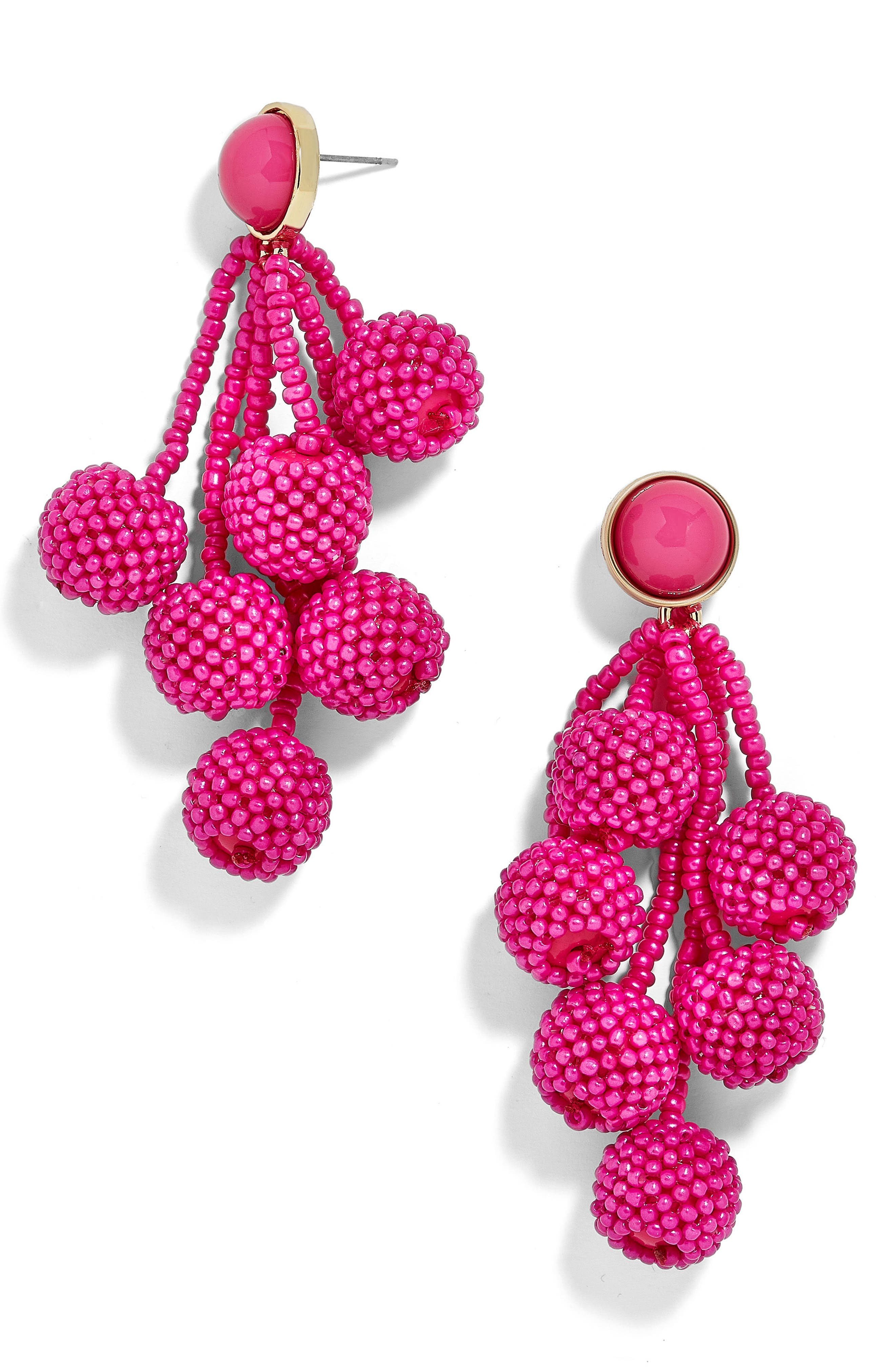 Coretta Updated Cocoa Drop Earrings,                         Main,                         color, Hot Pink