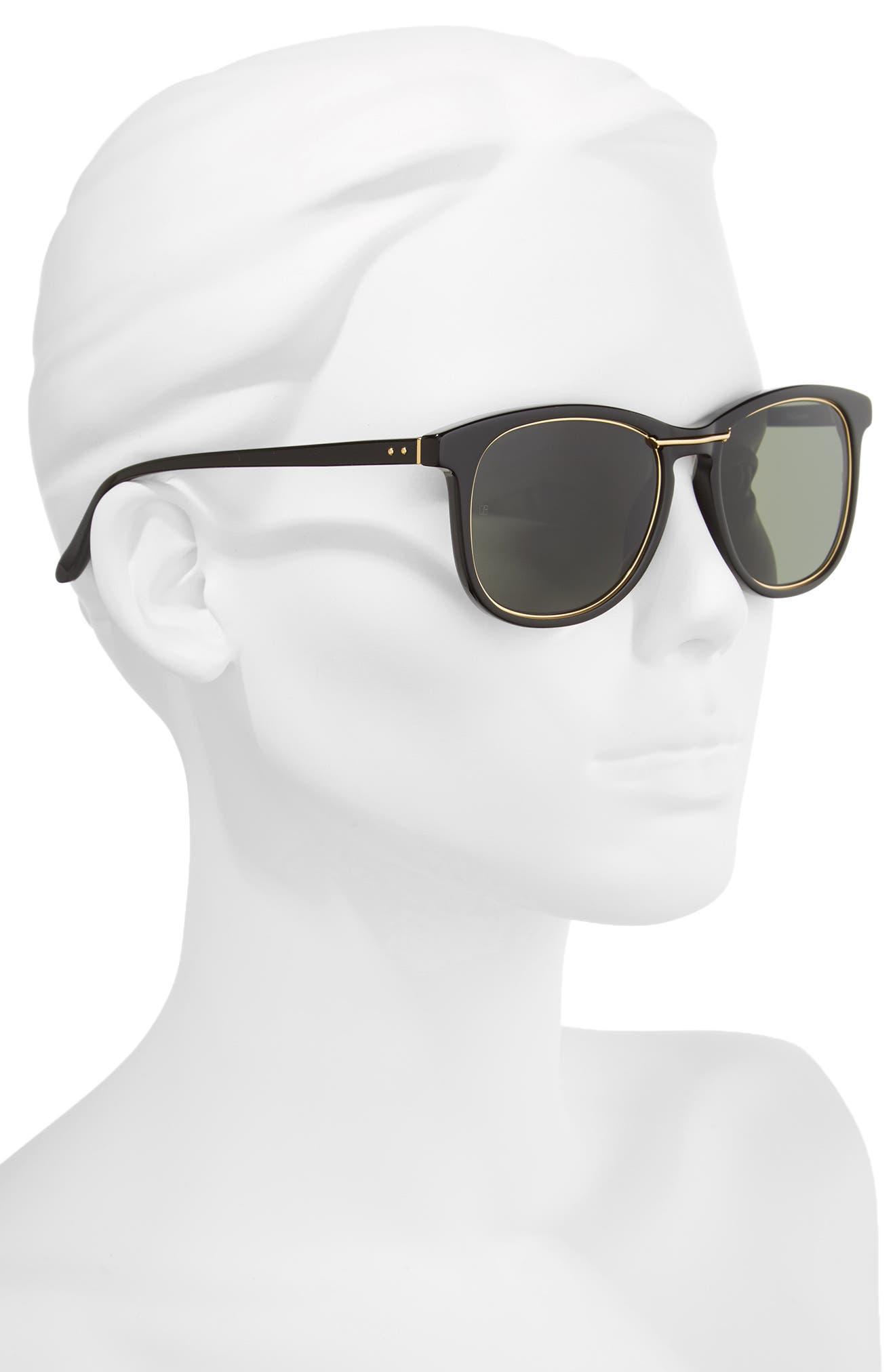 53mm Sunglasses,                             Alternate thumbnail 3, color,                             Wilmott Black/ Yellow Gold