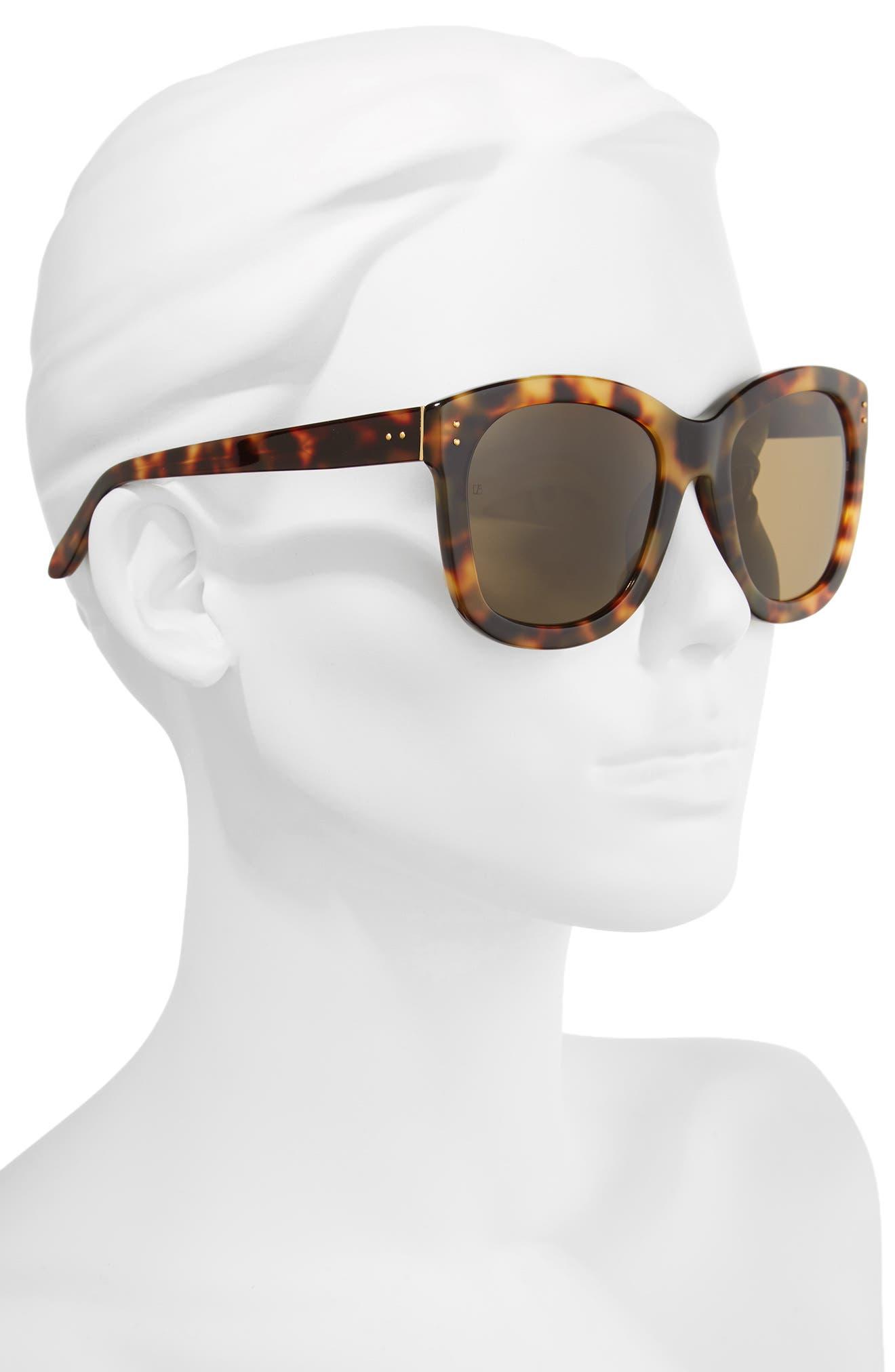Alternate Image 2  - Linda Farrow 56mm Angular Sunglasses