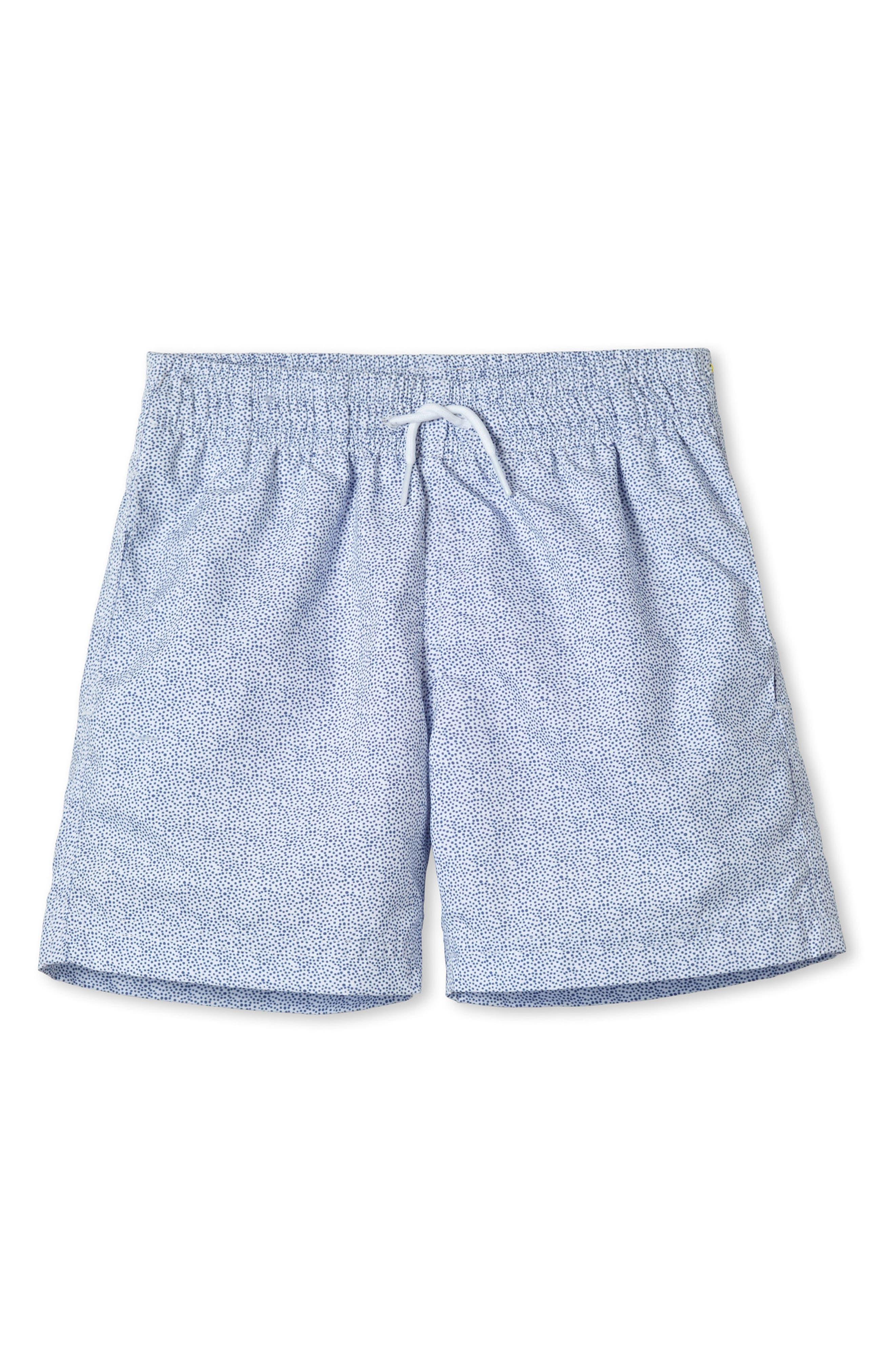 Alternate Image 1 Selected - Stella Cove Blue Pebble Print Swim Trunks (Toddler Boys & Little Boys)