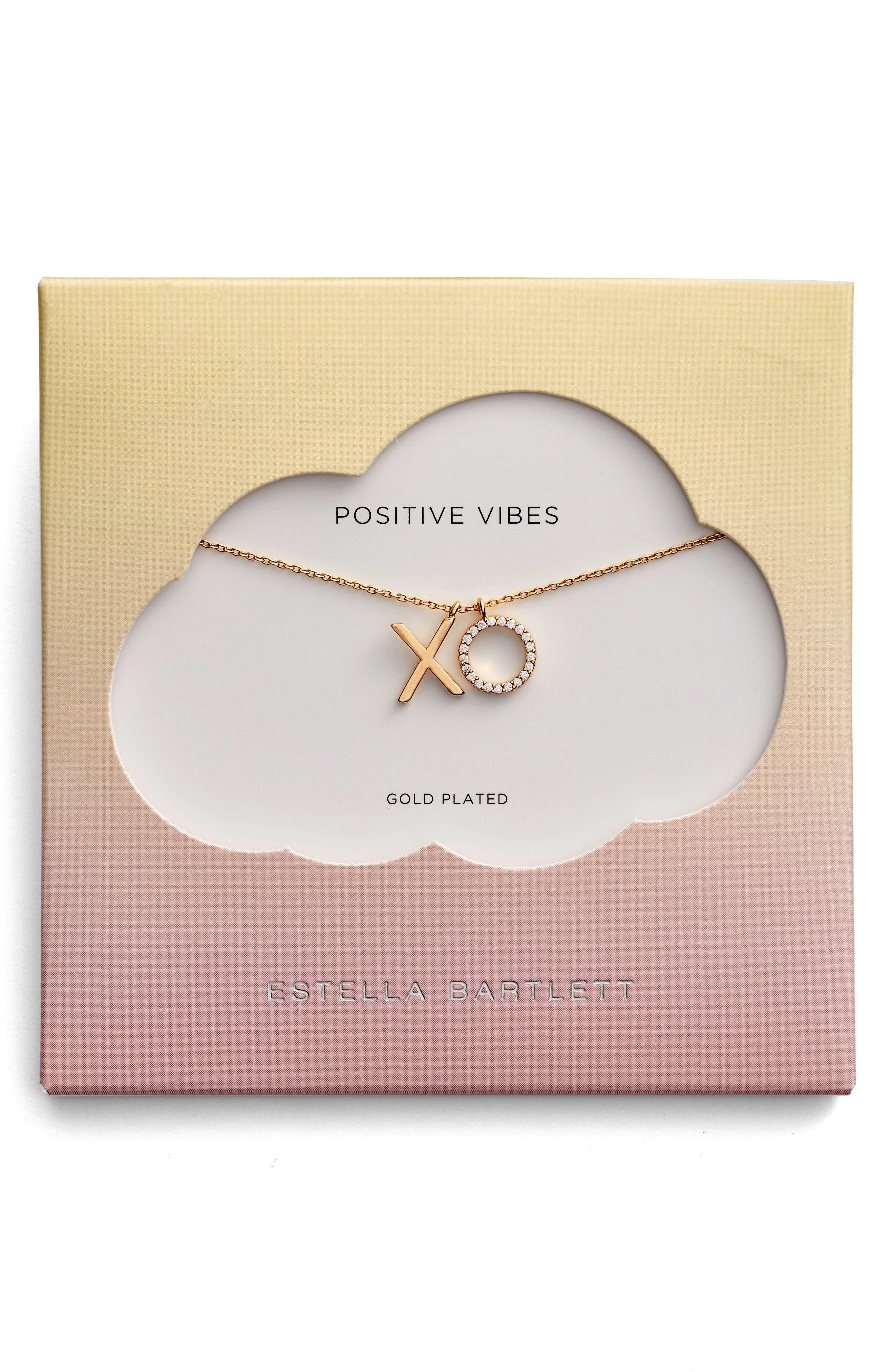 Positive Vibes Pendant Necklace,                         Main,                         color, Gold
