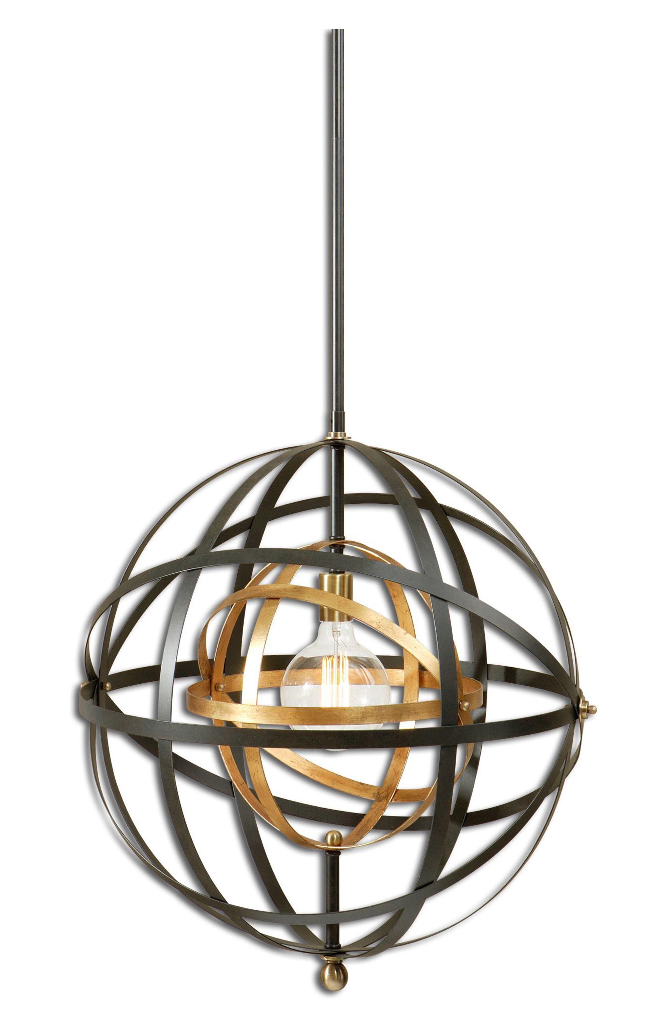 Rondure Pendant Light Fixture,                             Main thumbnail 1, color,                             Metallic Rust/ Copper