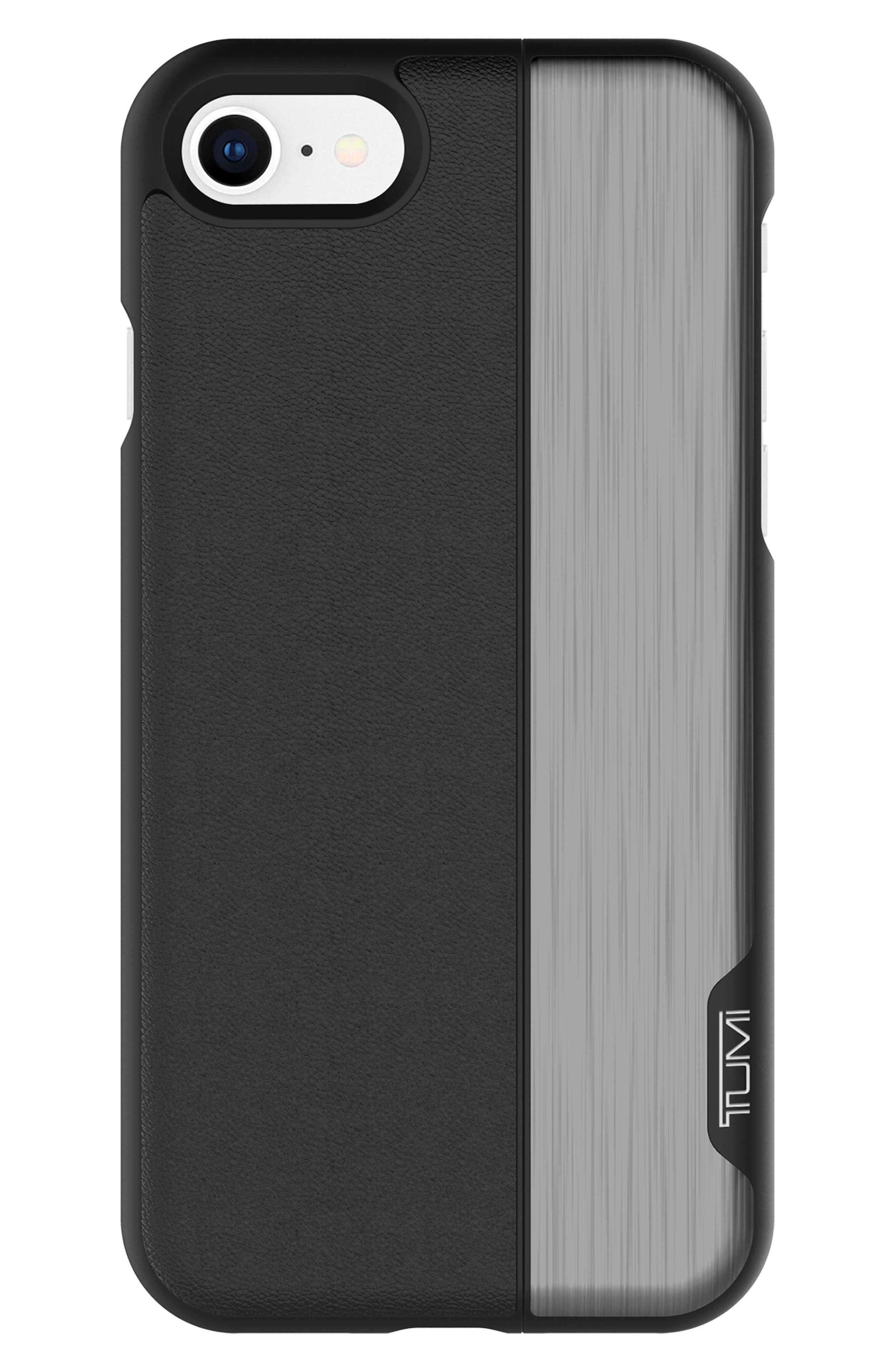 Vertical Slider iPhone 8 Case,                             Main thumbnail 1, color,                             Black Gunmetal