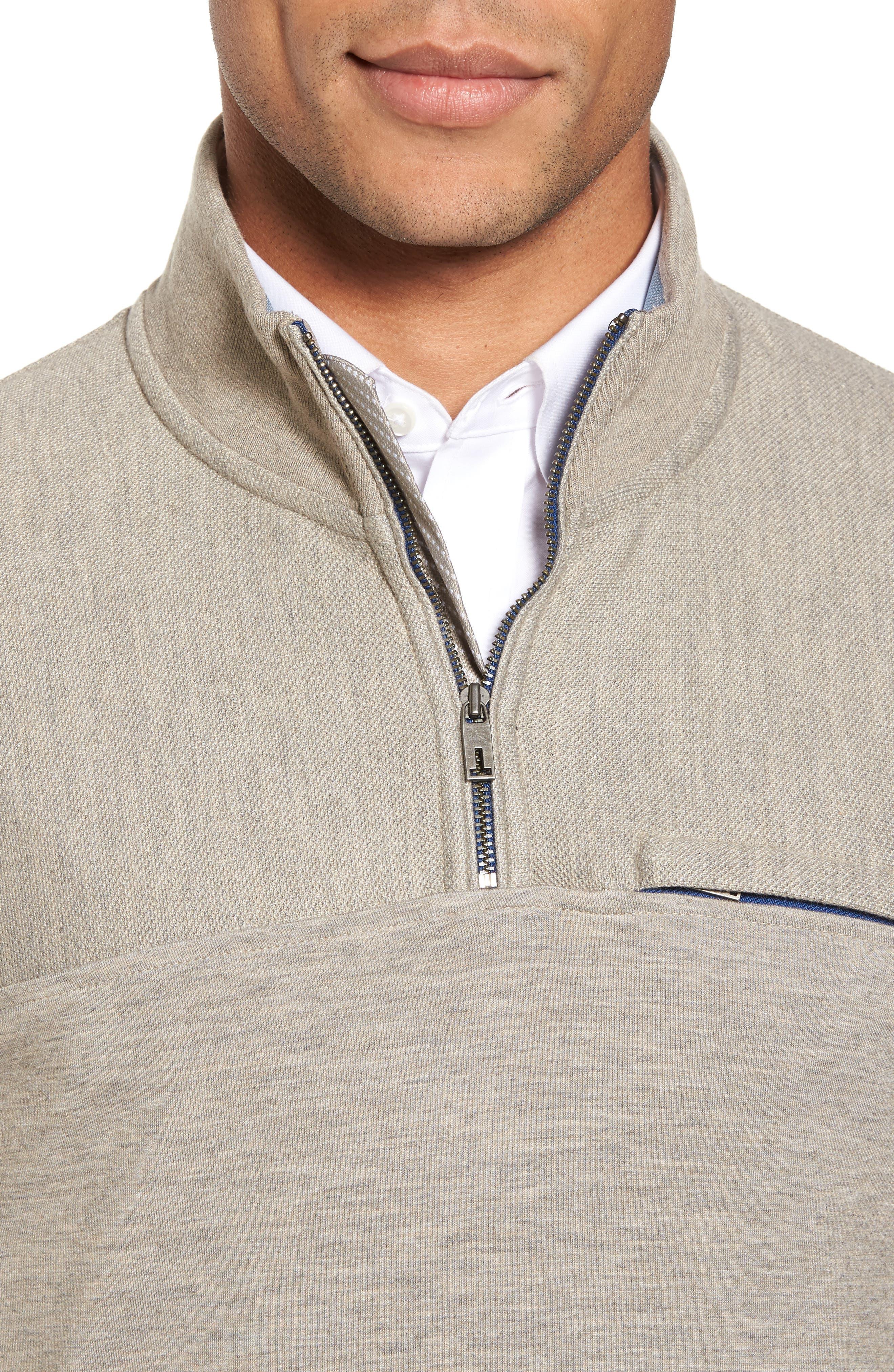 Alternate Image 4  - Ted Baker London Livstay Slim Fit Quarter Zip Pullover
