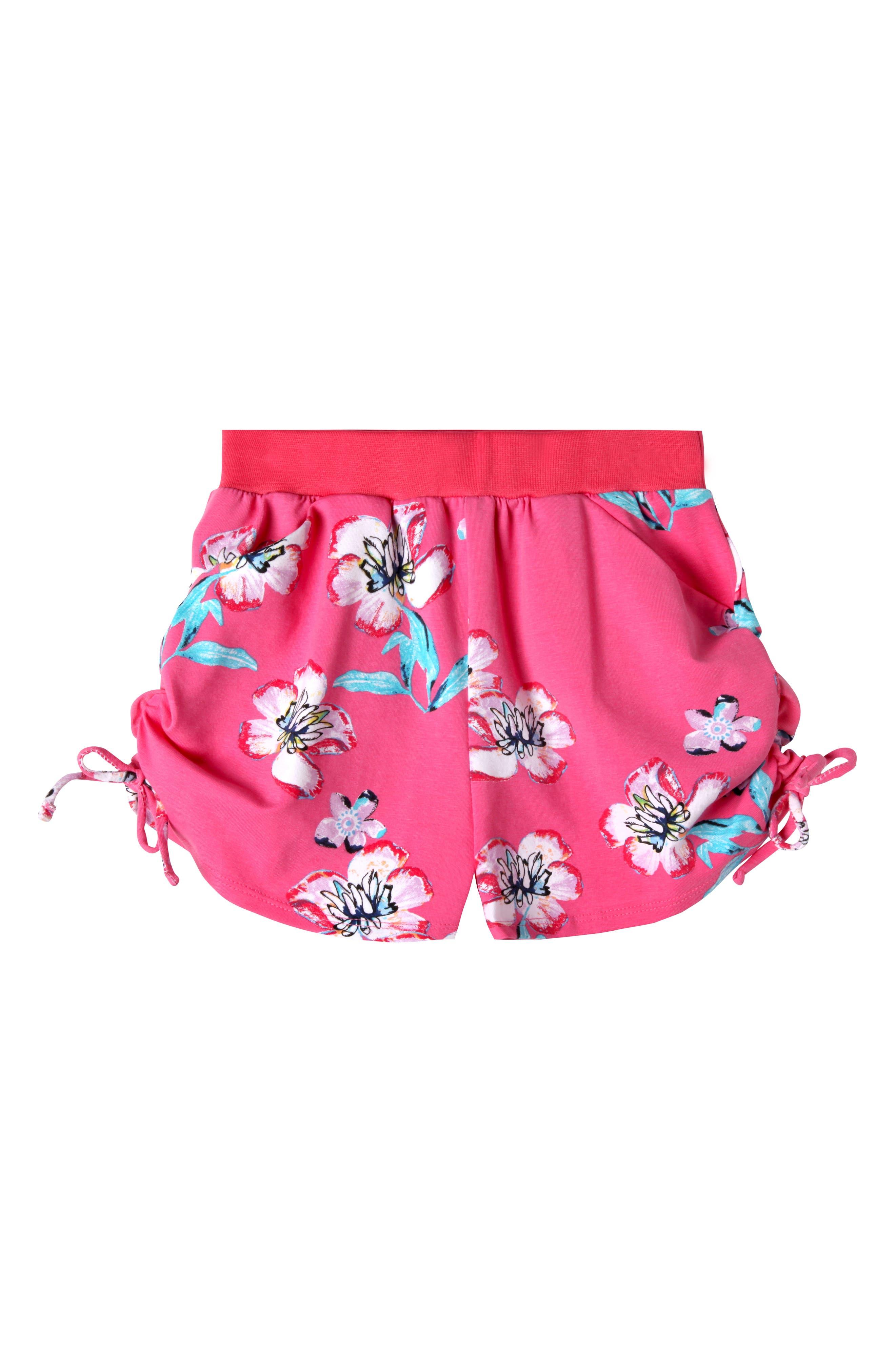 Jordyn Print Shorts,                             Main thumbnail 1, color,                             Pink Pil