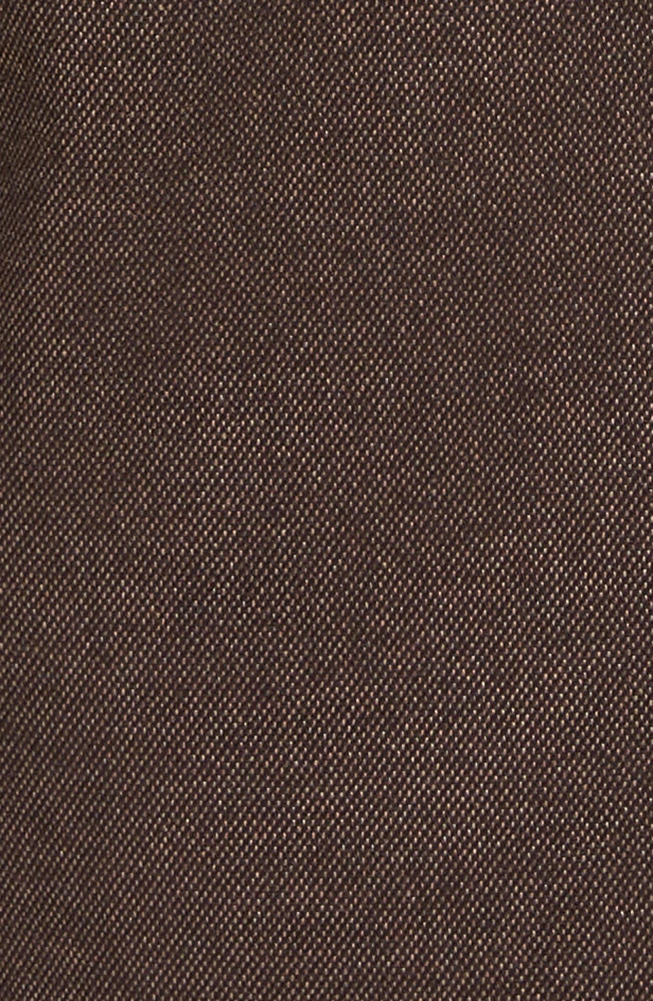Freshman Modern Fit Brushed Pants,                             Alternate thumbnail 5, color,                             Brown
