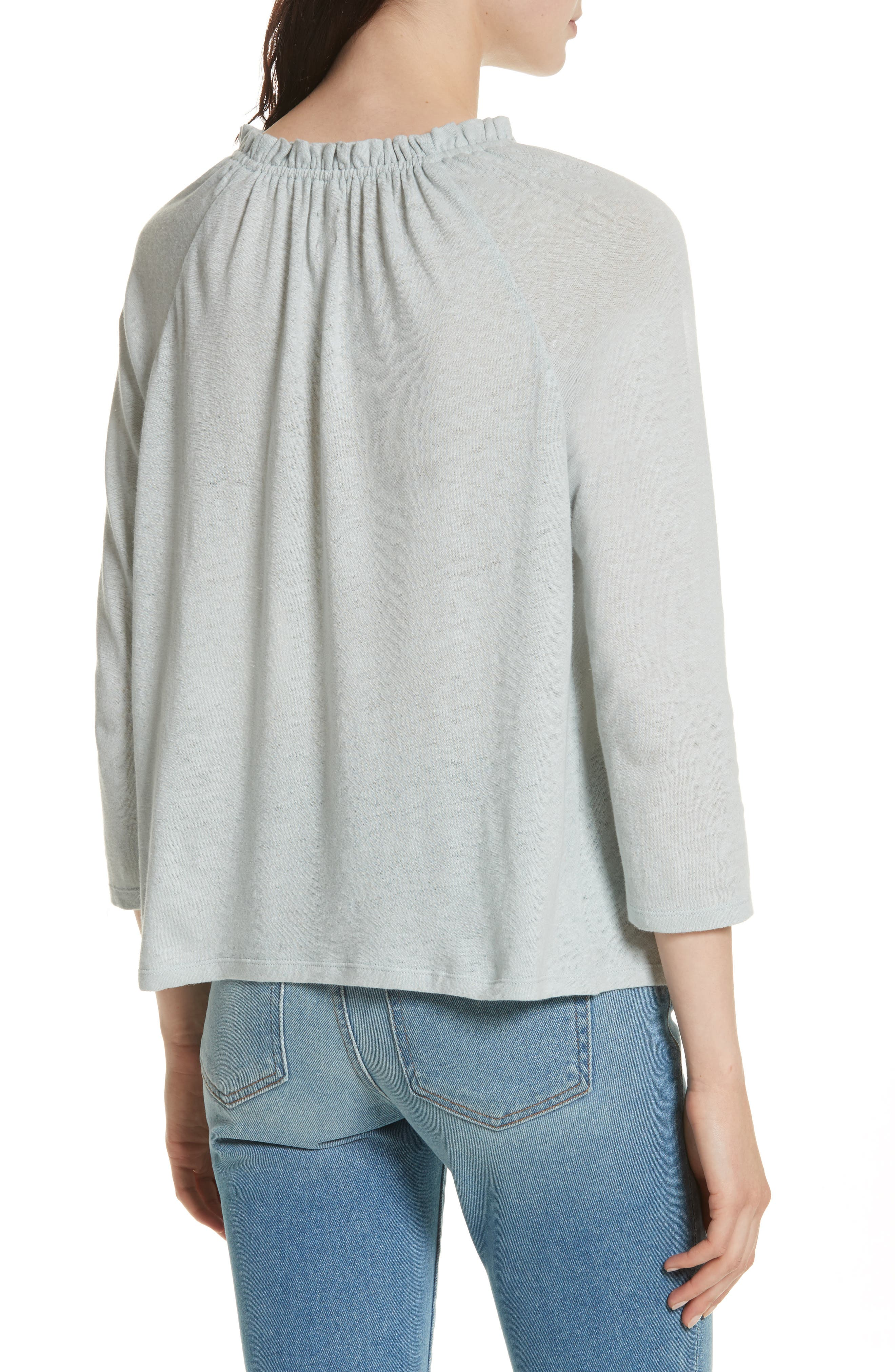 Texture Jersey Off the Shoulder Top,                             Alternate thumbnail 2, color,                             Glace