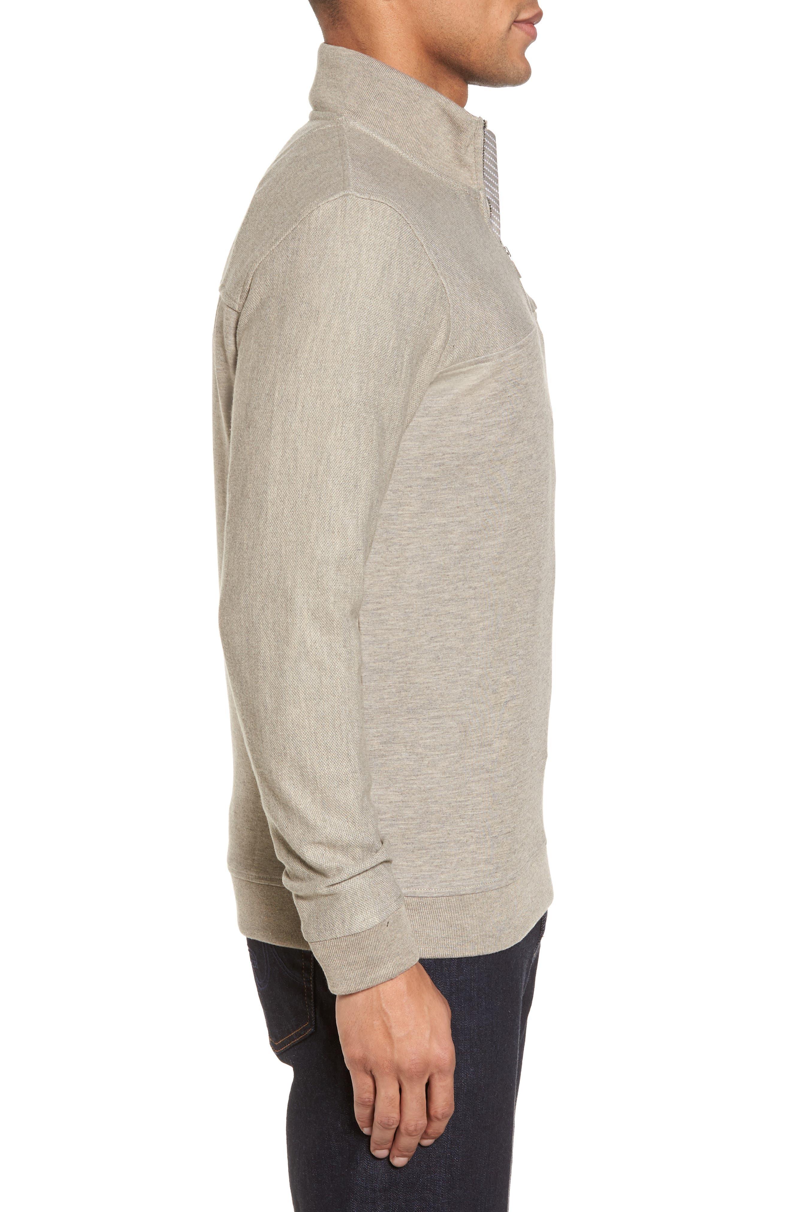 Alternate Image 3  - Ted Baker London Livstay Slim Fit Quarter Zip Pullover