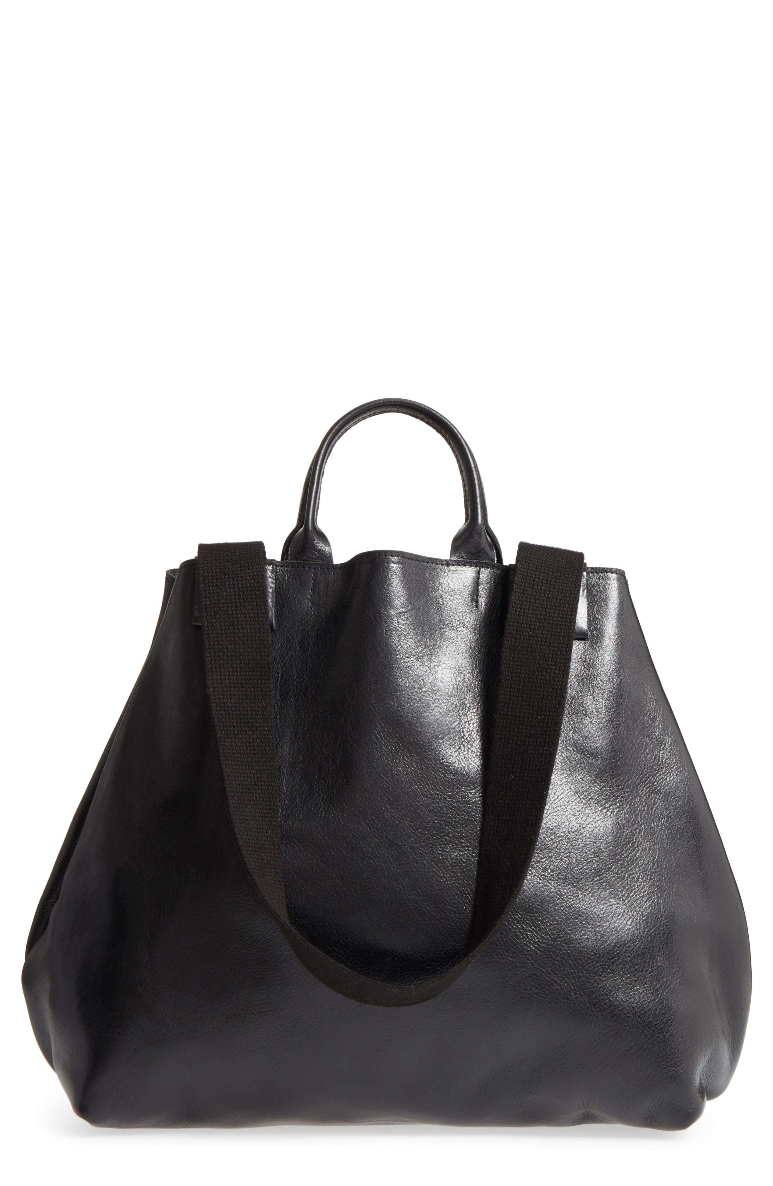 Clare V. Le Big Sac Leather Tote