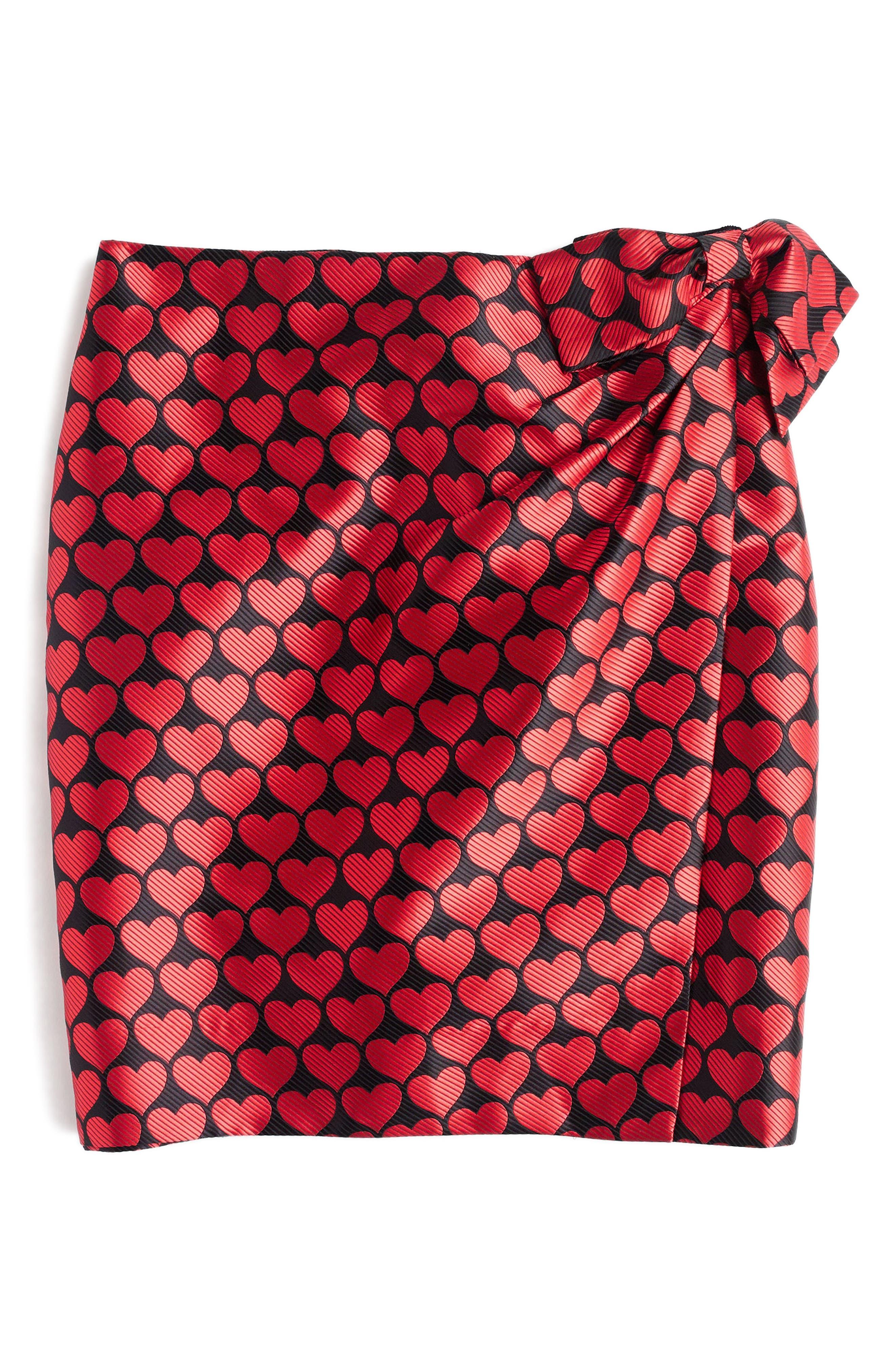 Castlebar Snuggle Heart Skirt,                             Alternate thumbnail 3, color,                             Electric Red
