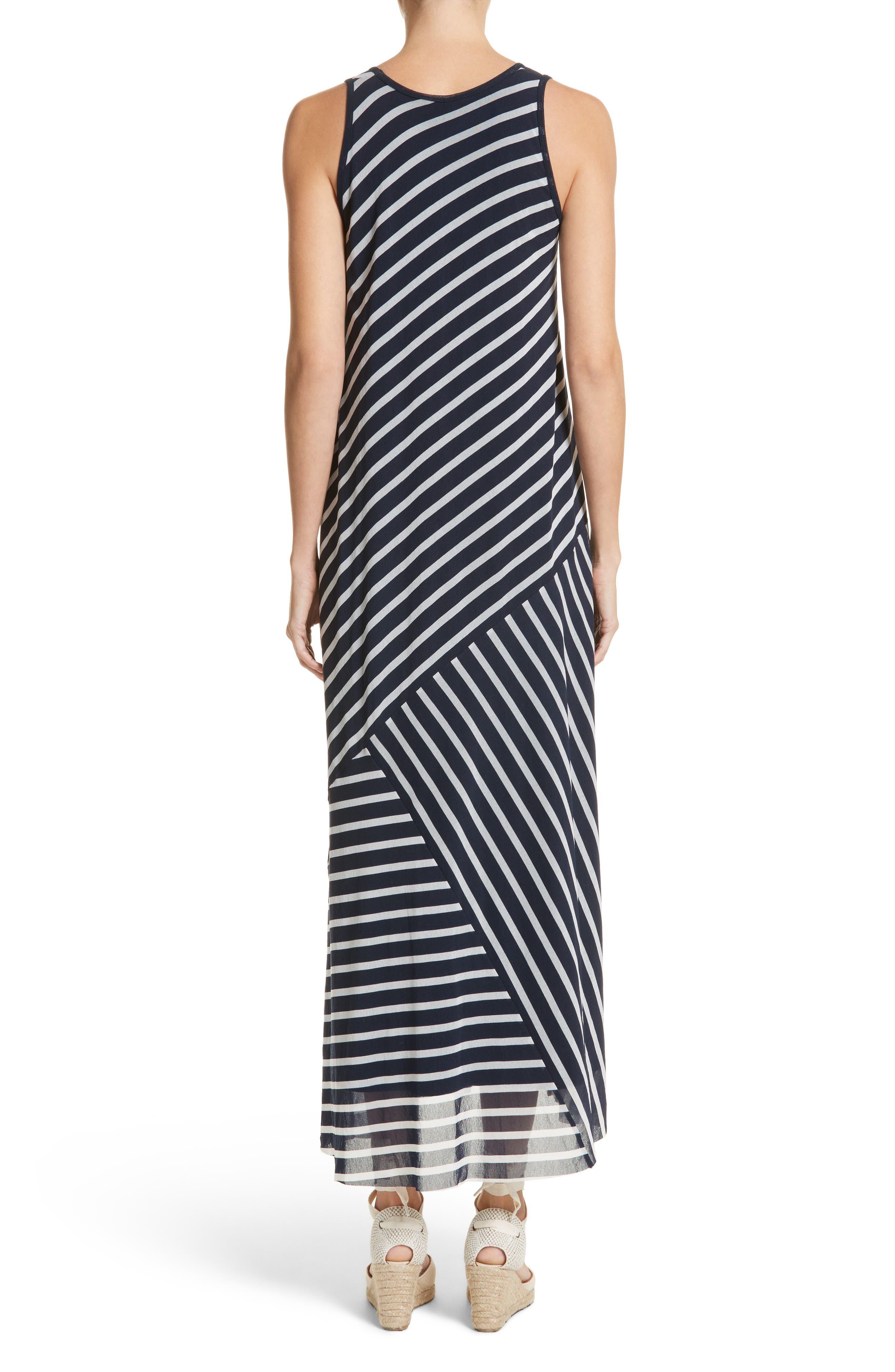 Stripe Maxi Tank Dress,                             Alternate thumbnail 2, color,                             Zaffiro