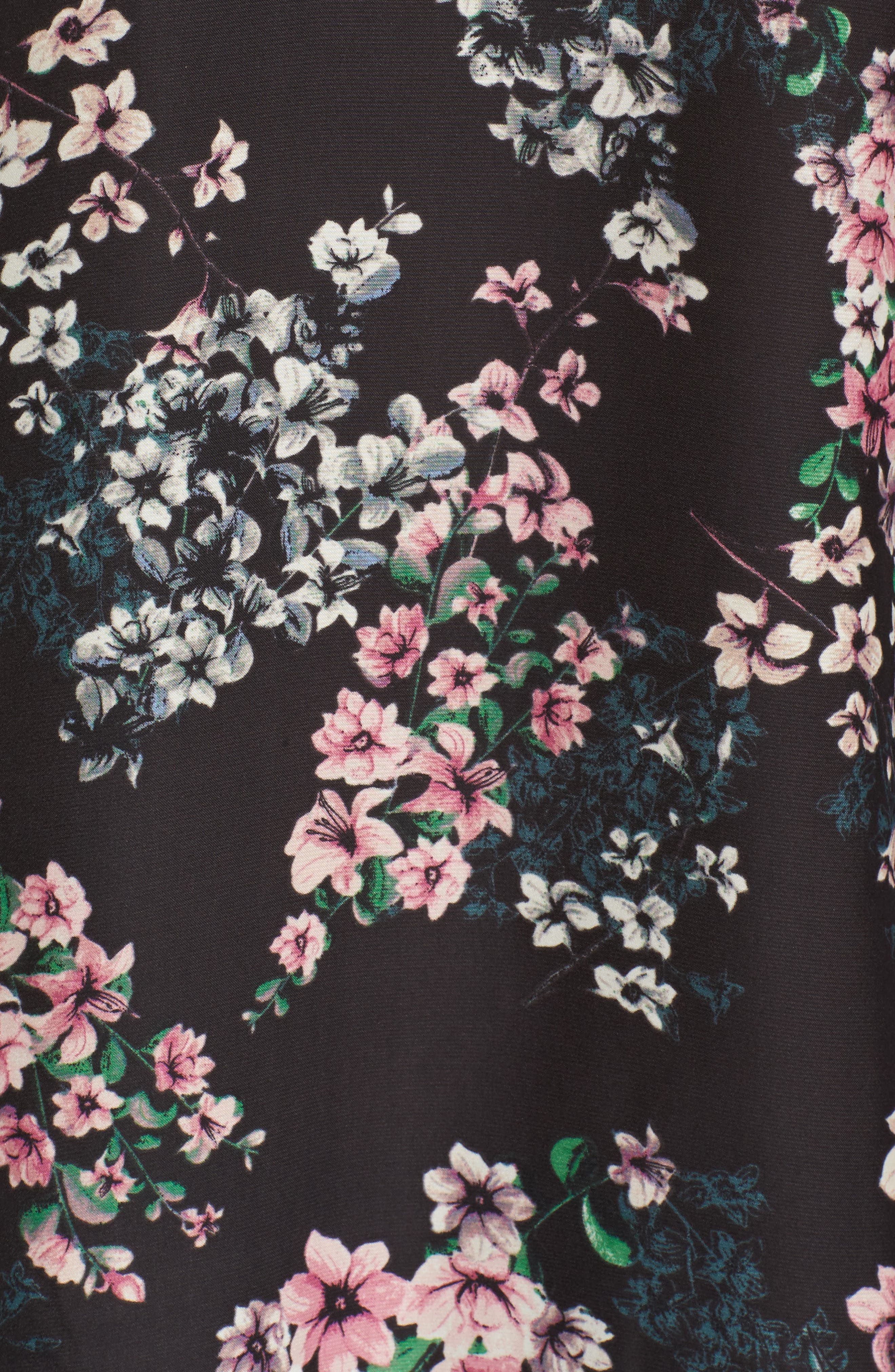 Nadette Floral Blouse,                             Alternate thumbnail 5, color,                             Black