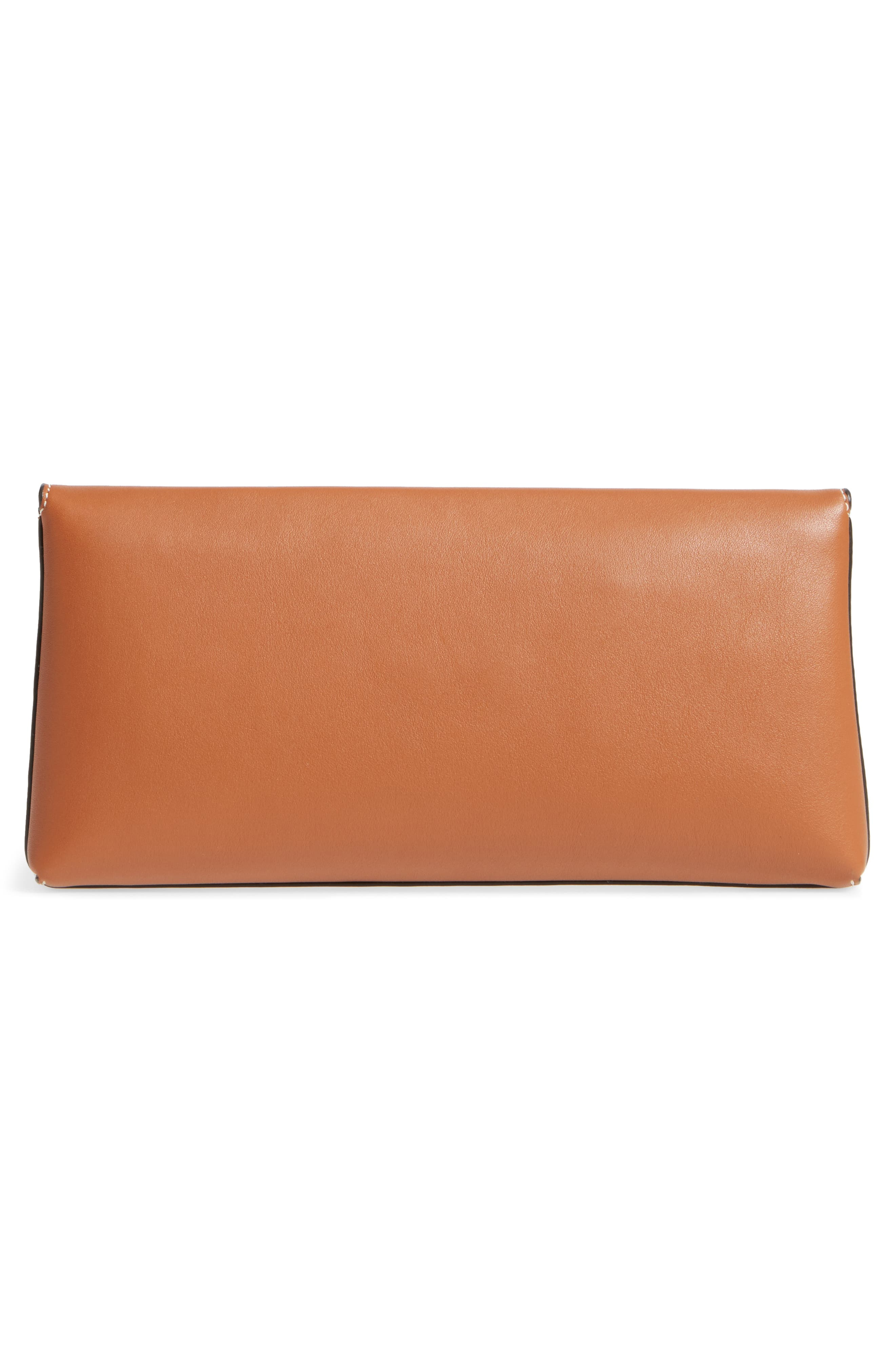 Miller Leather Clutch,                             Alternate thumbnail 4, color,                             New Cuoio