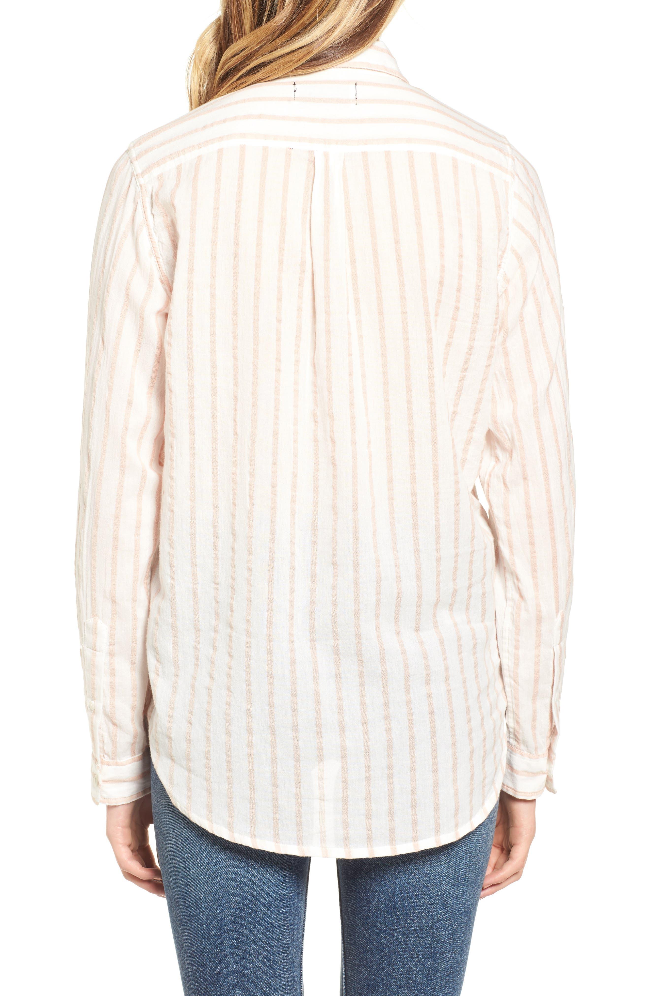 The Boyfriend Shirt,                             Alternate thumbnail 2, color,                             Gable Stripe