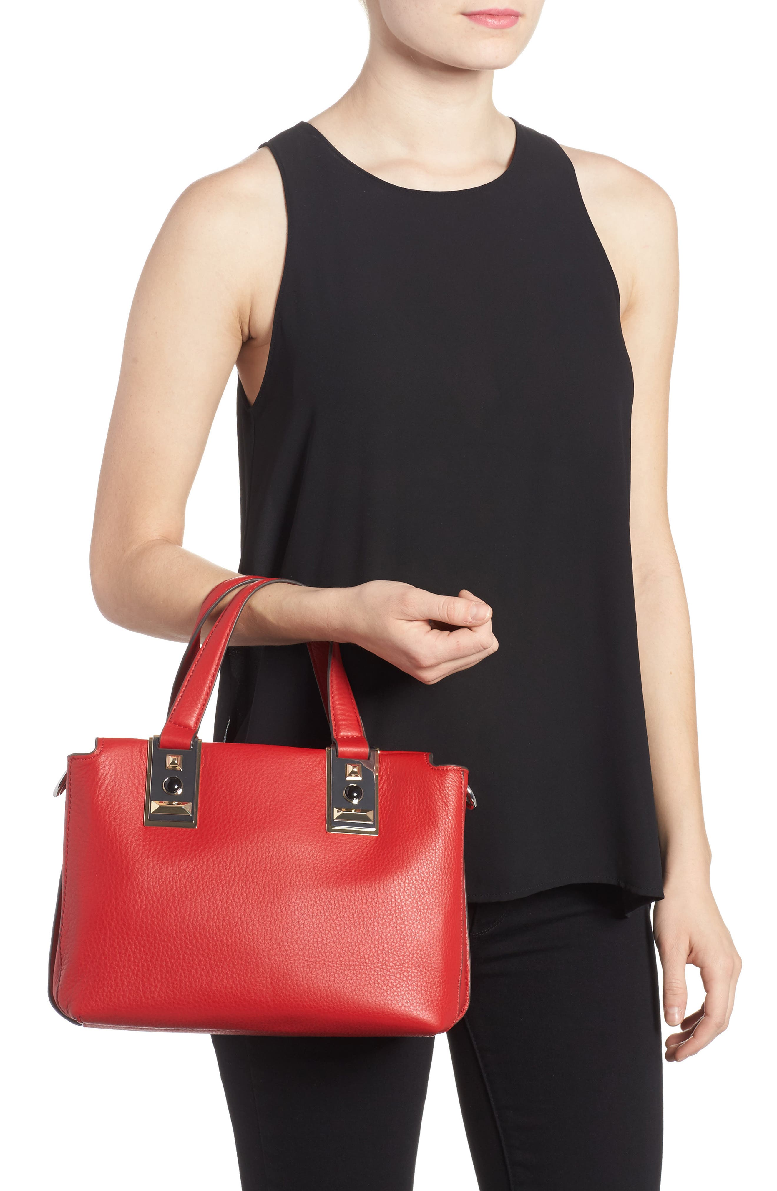 Alternate Image 2  - Vince Camuto Bitty Leather Satchel