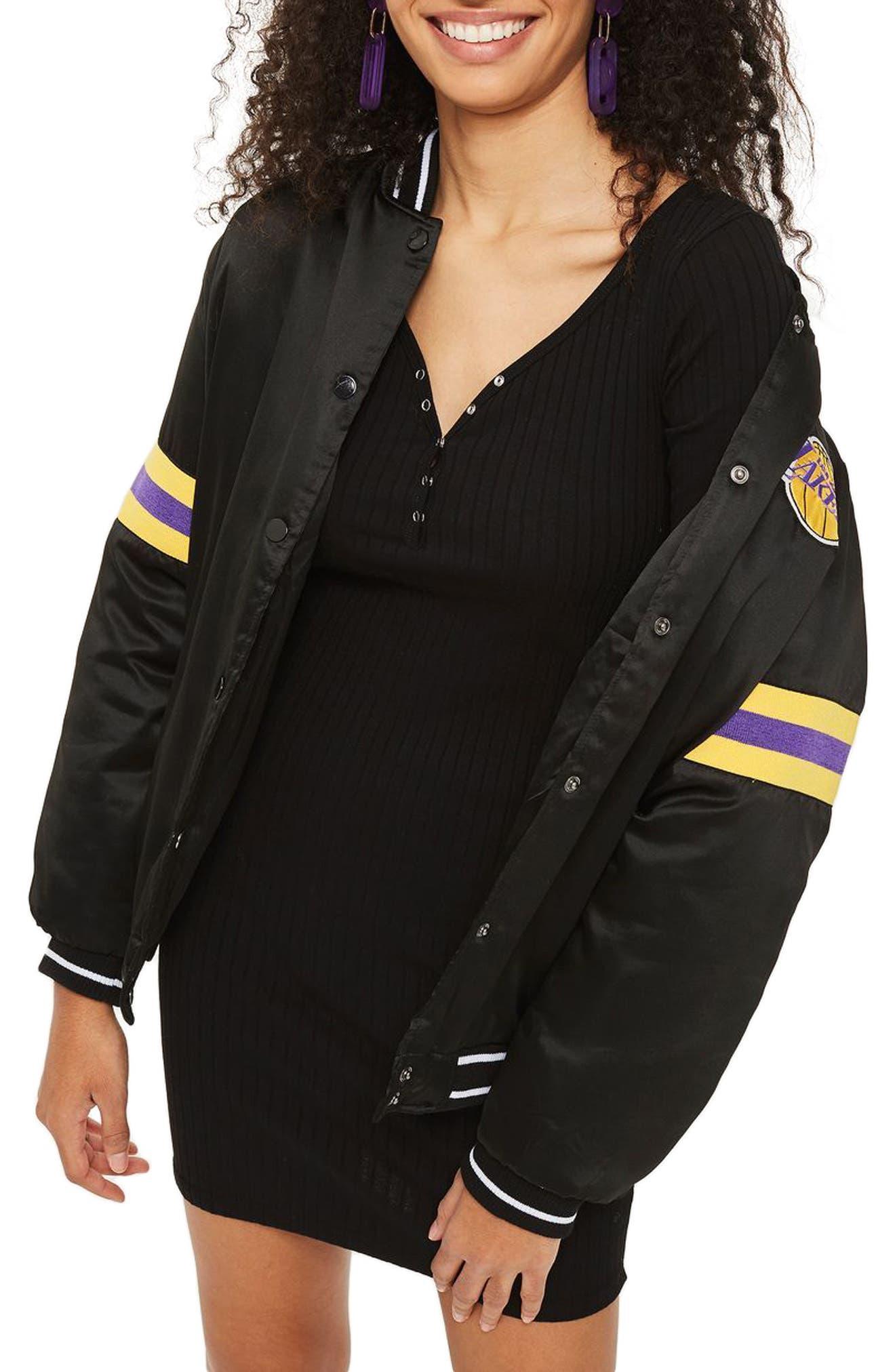 Henley Body-Con Dress,                         Main,                         color, Black