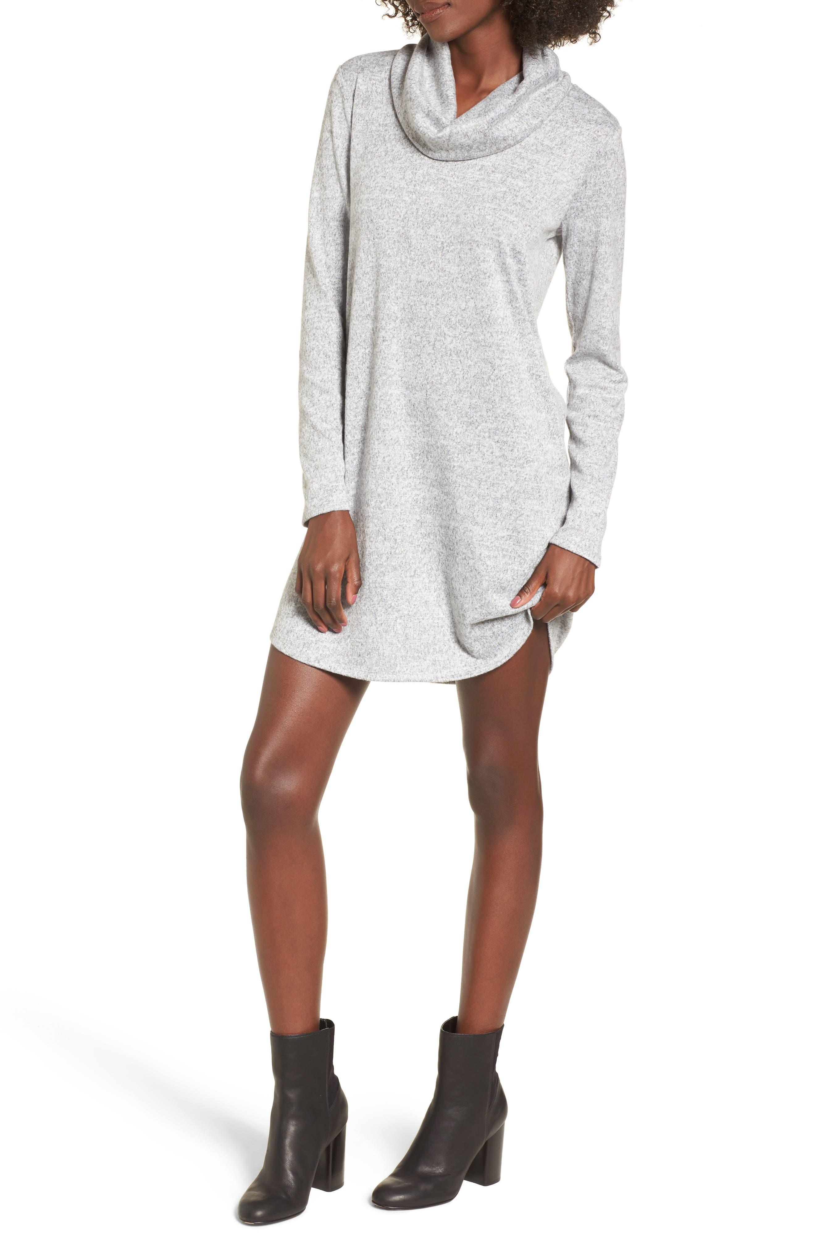 Main Image - Socialite Savannah Brushed Cowl Sweater Dress