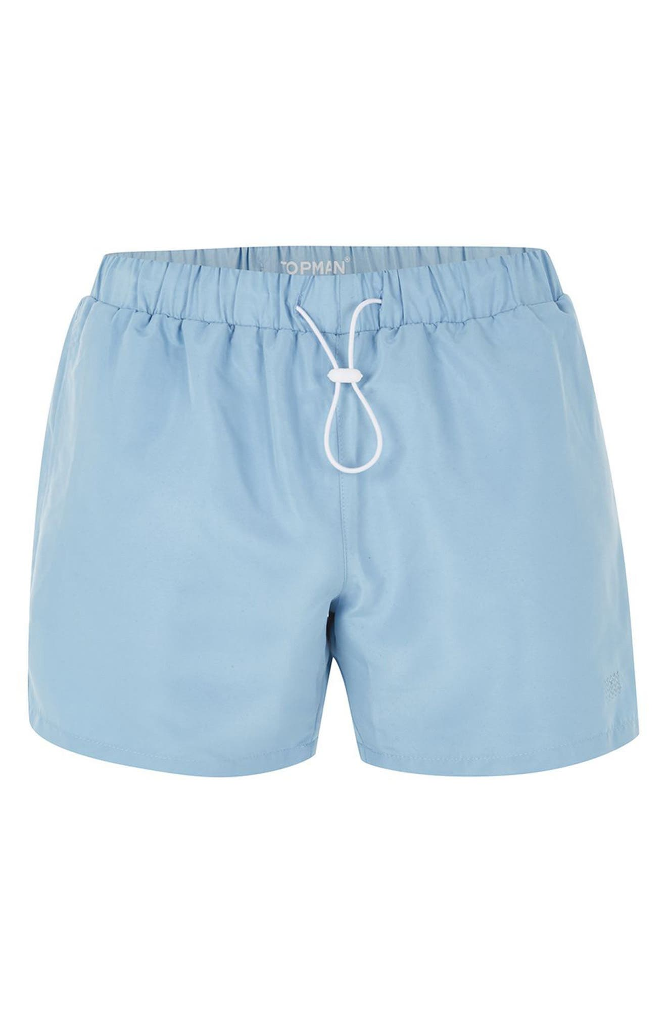 Neptune Swim Trunks,                             Alternate thumbnail 4, color,                             Mid Blue
