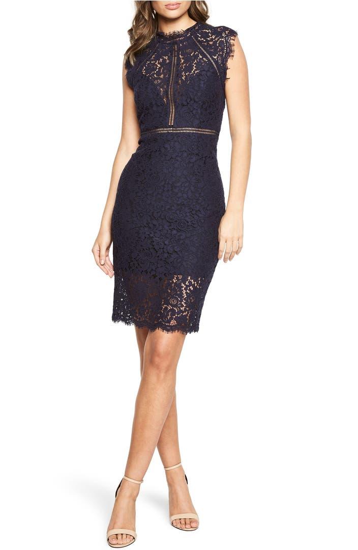 Main Image - Bardot Lace Sheath Dress