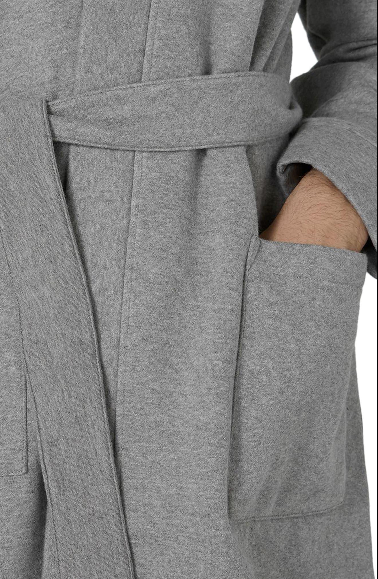 Jersey Robe,                             Alternate thumbnail 3, color,                             Grey