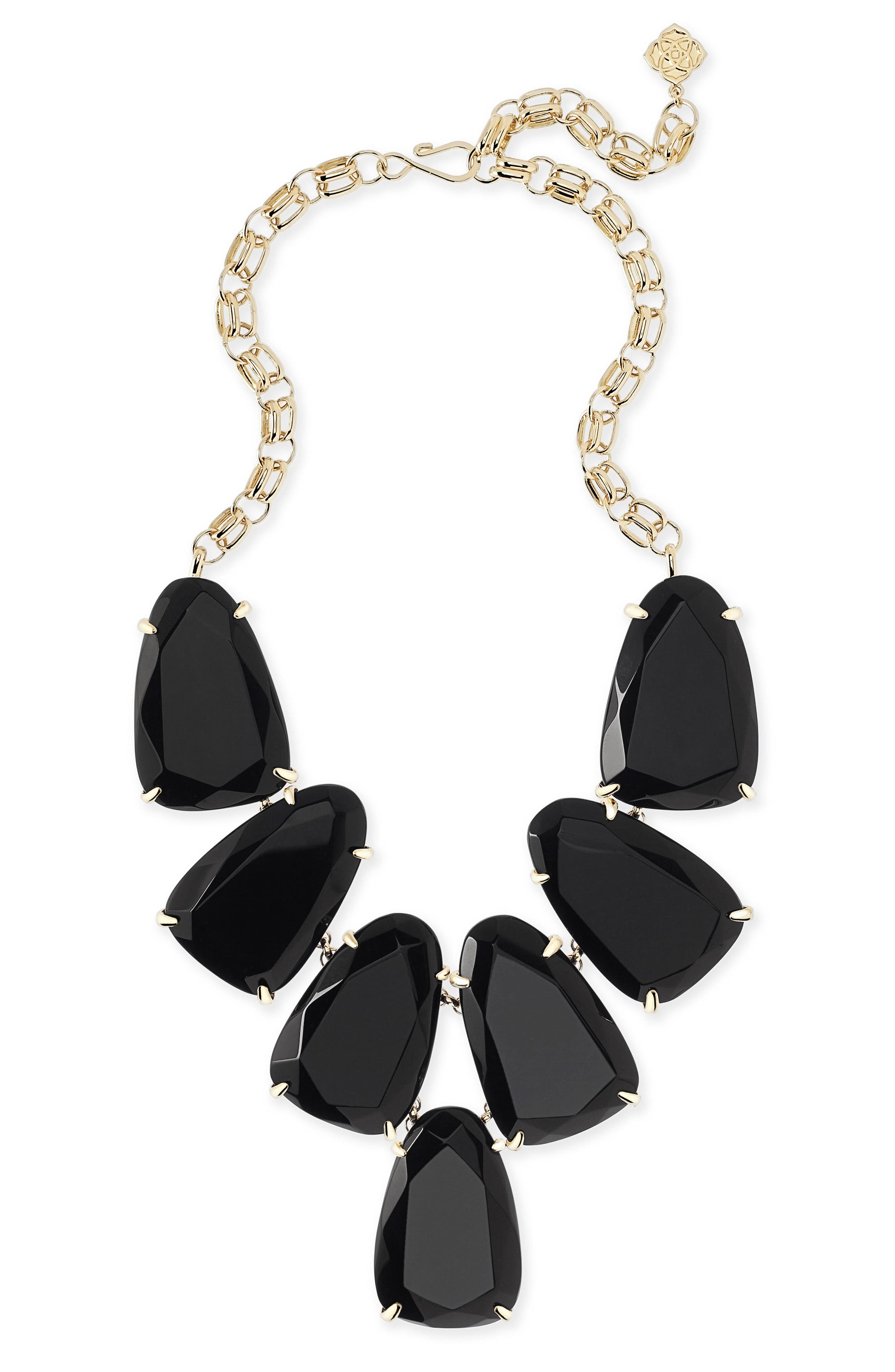 Harlow Necklace,                             Main thumbnail 1, color,                             Black Onyx/ Gold
