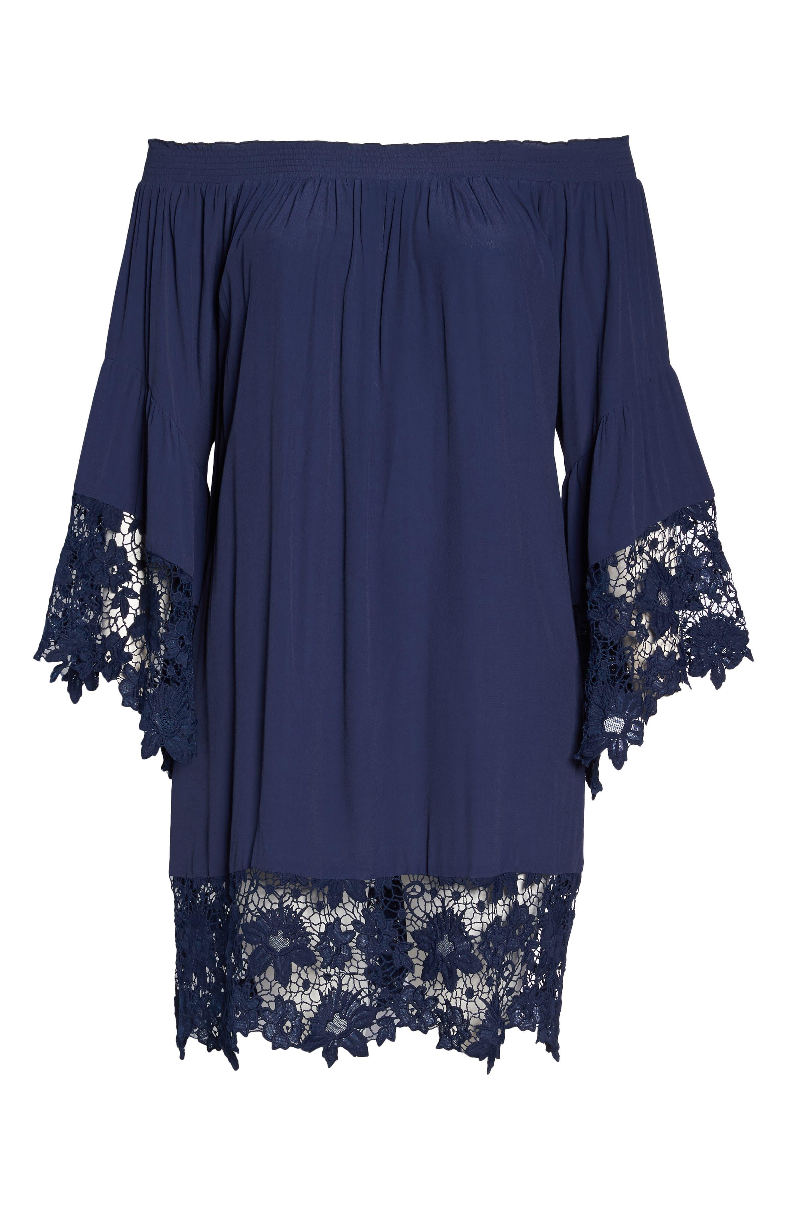 Alternate Image 6  - Muche et Muchette Jolie Lace Accent Cover-Up Dress (Plus-Size)