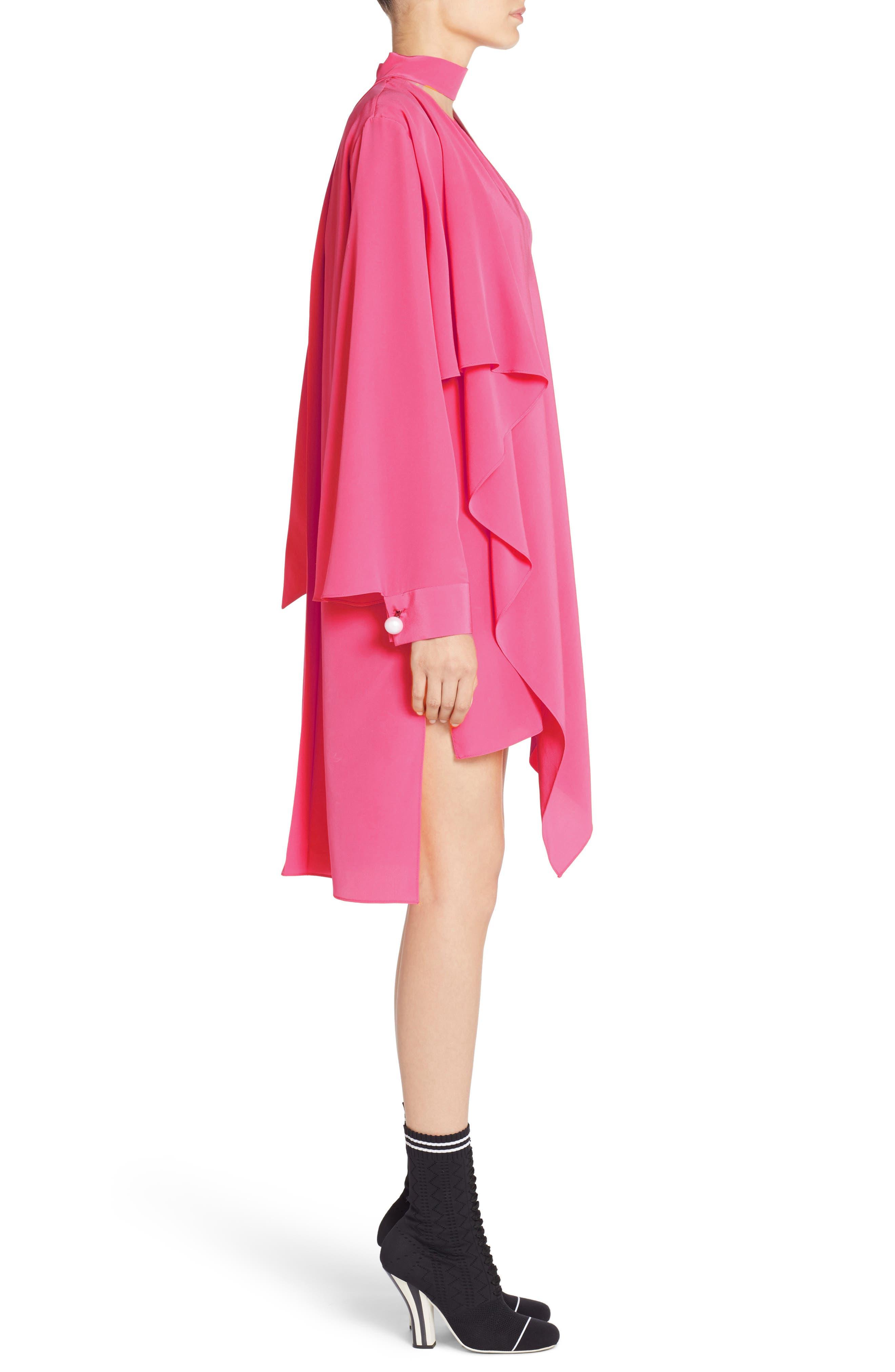 Alternate Image 3  - Fendi Drape Silk Crêpe de Chine Dress