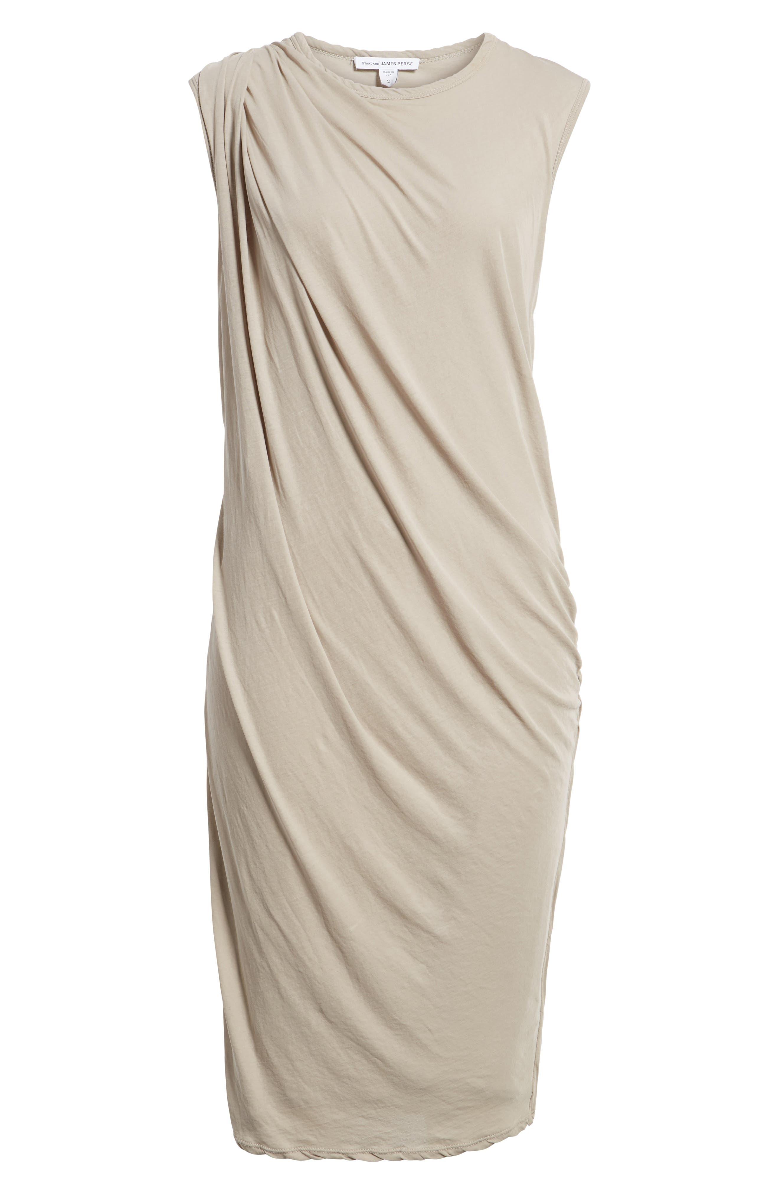 Alternate Image 6  - James Perse Draped Midi Dress