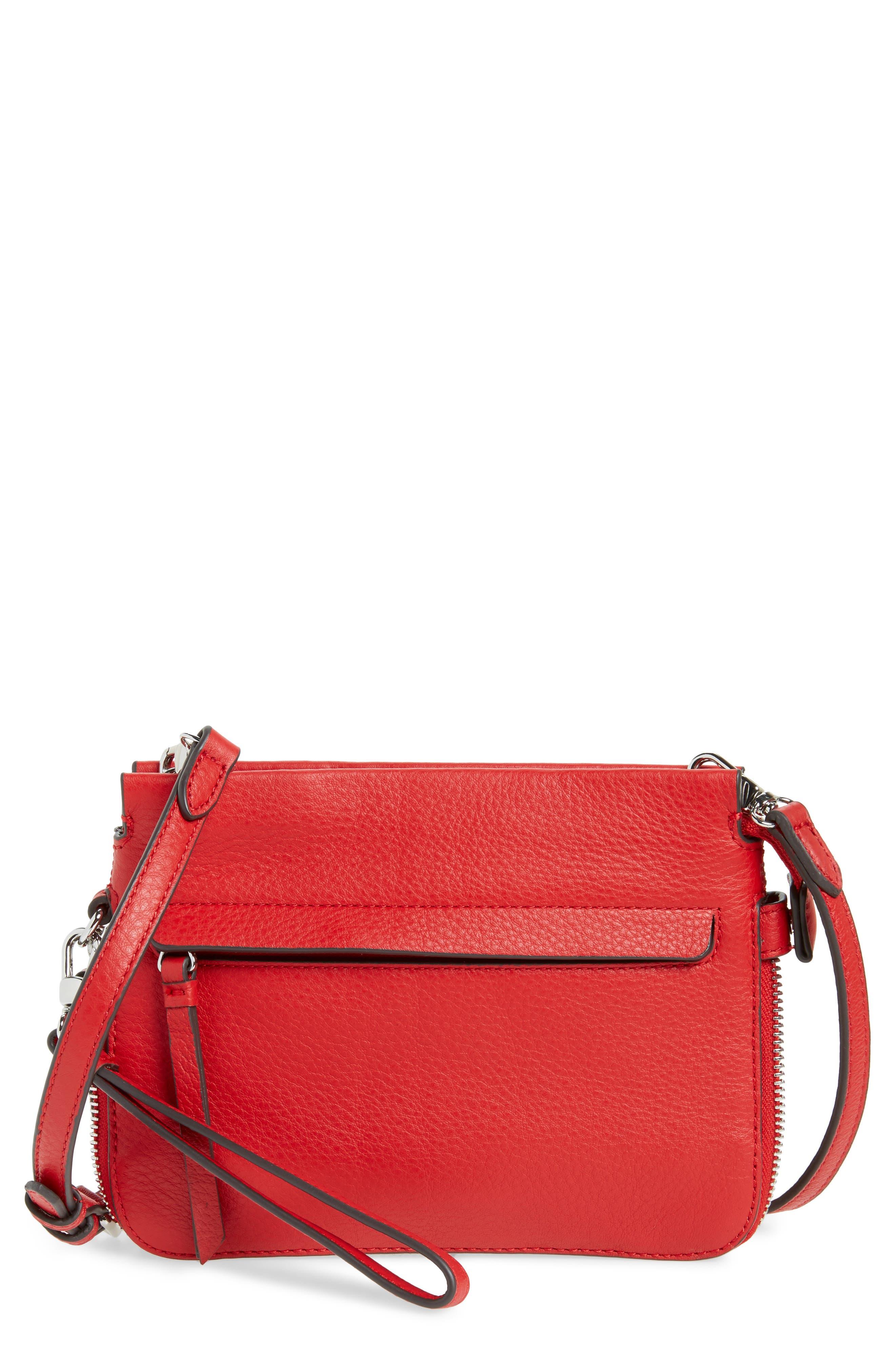 Vince Camuto Small Edsel Leather Crossbody Bag