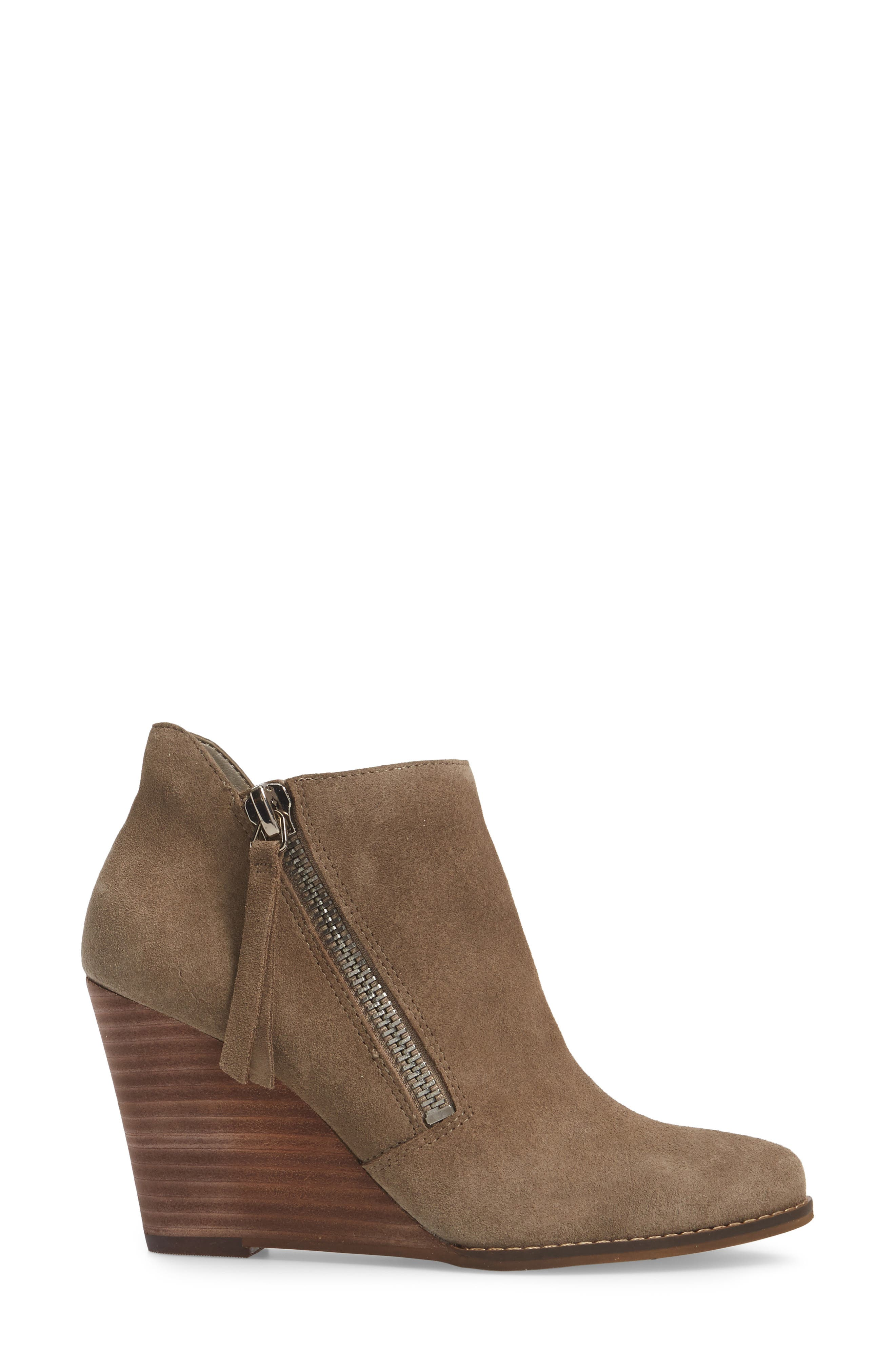 Carnivela Wedge Bootie,                             Alternate thumbnail 3, color,                             Greyhound Suede