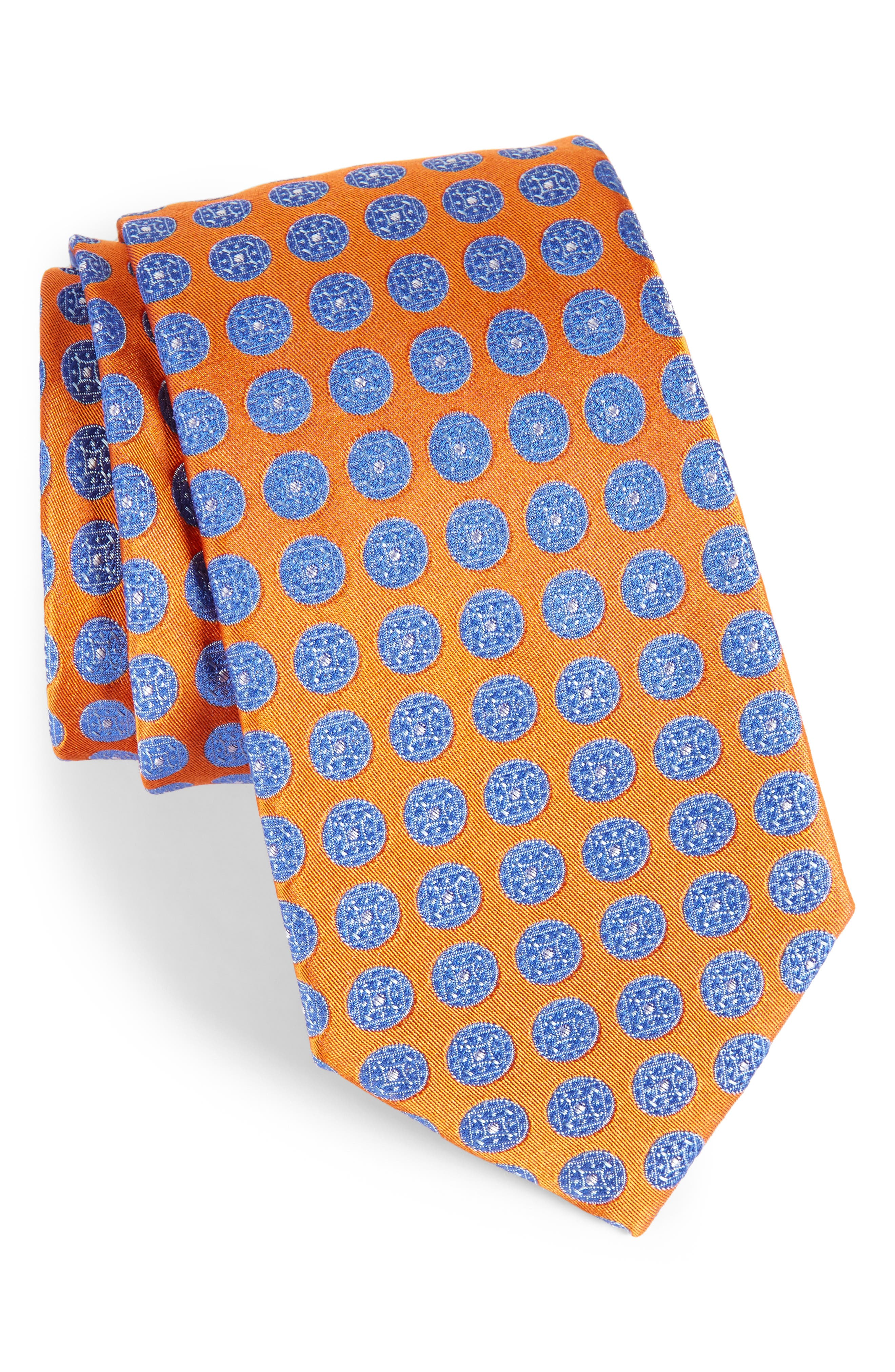 Alternate Image 1 Selected - Nordstrom Men's Shop Carlos Medallion Silk Tie (X-Long)