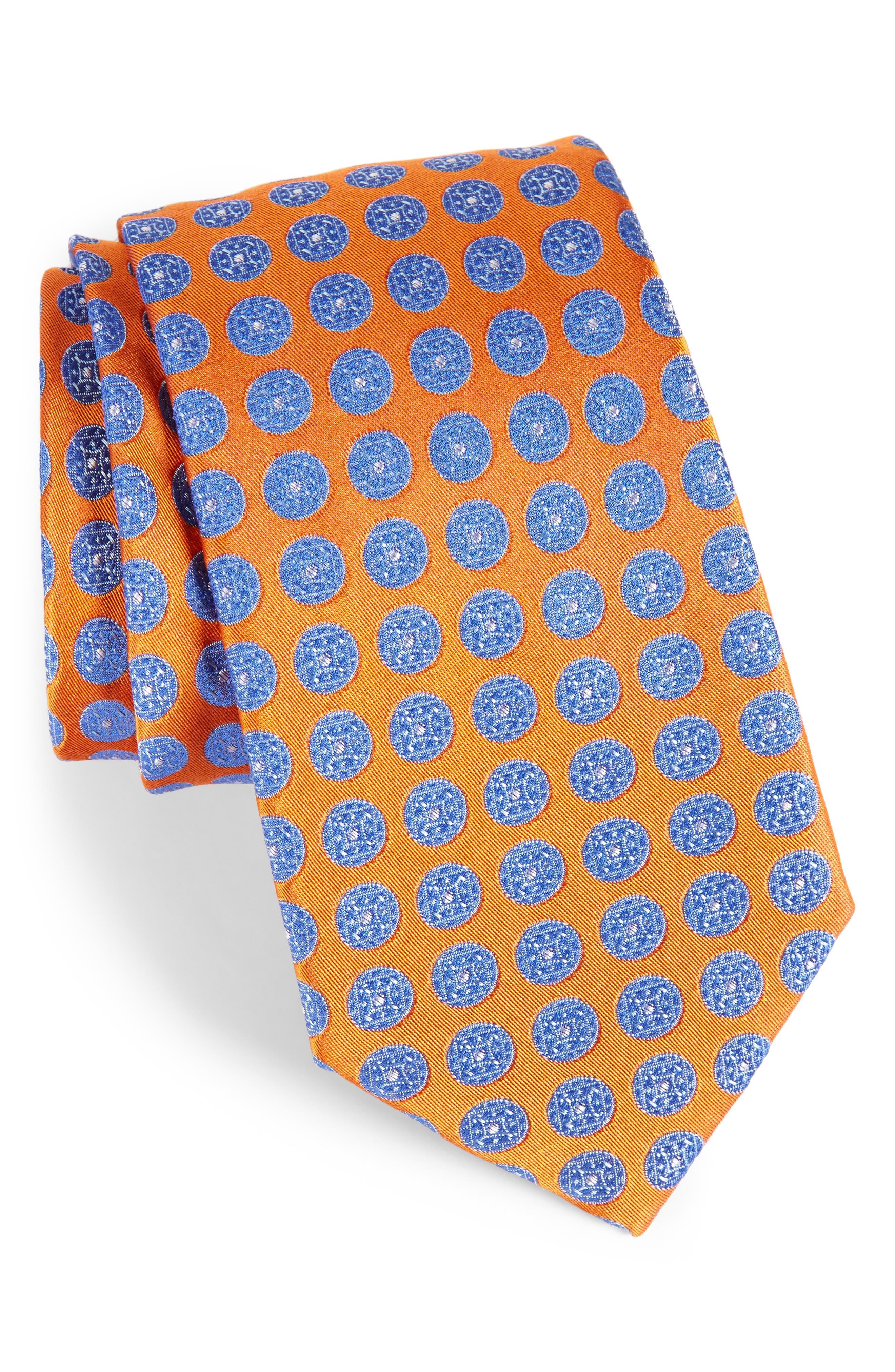 Main Image - Nordstrom Men's Shop Carlos Medallion Silk Tie (X-Long)