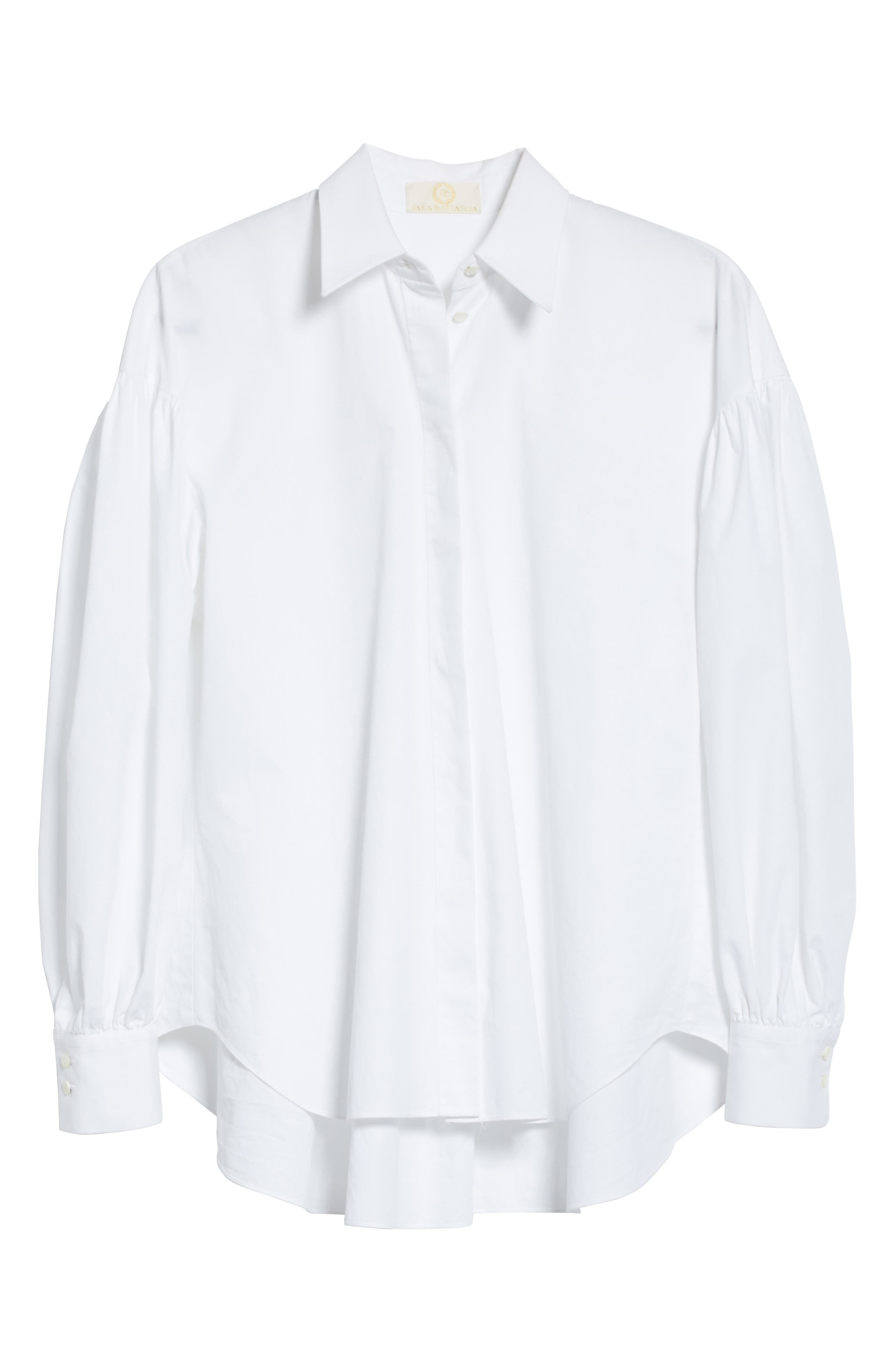 Puff Sleeve Shirt,                             Alternate thumbnail 7, color,                             White