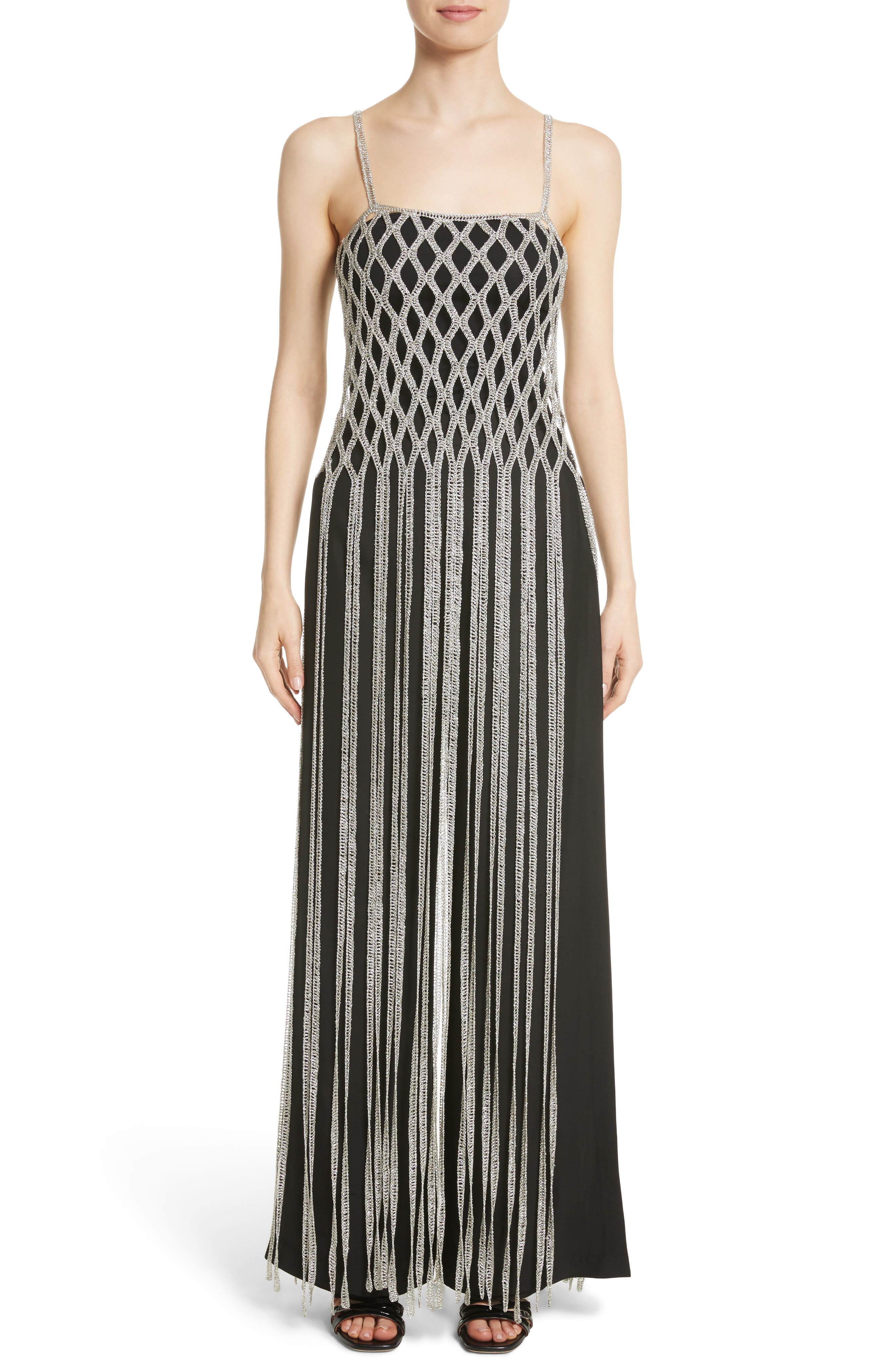 Rosetta Getty Metallic Fringe Overlay