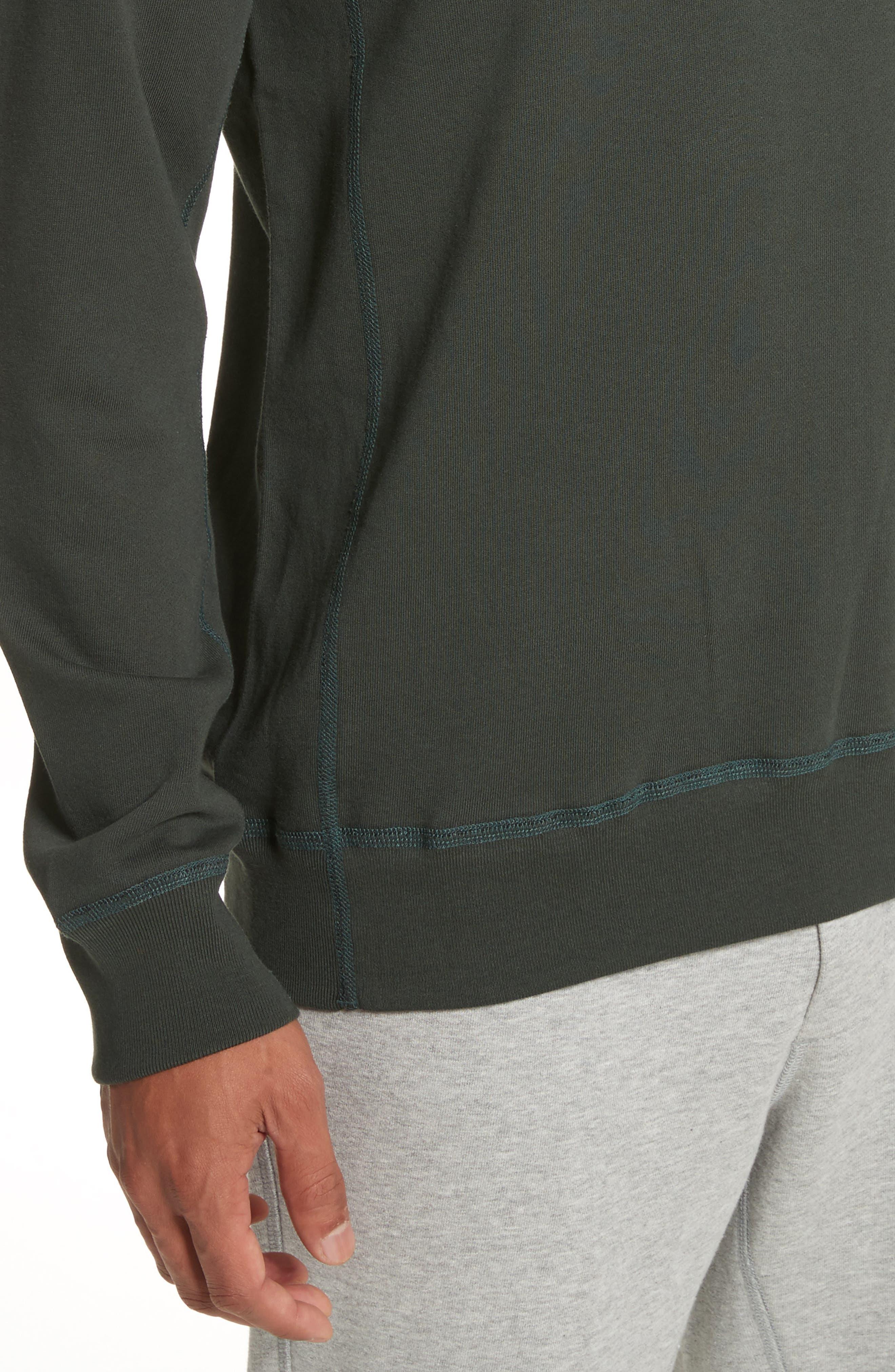 Crewneck Sweatshirt,                             Alternate thumbnail 4, color,                             Jungle Green