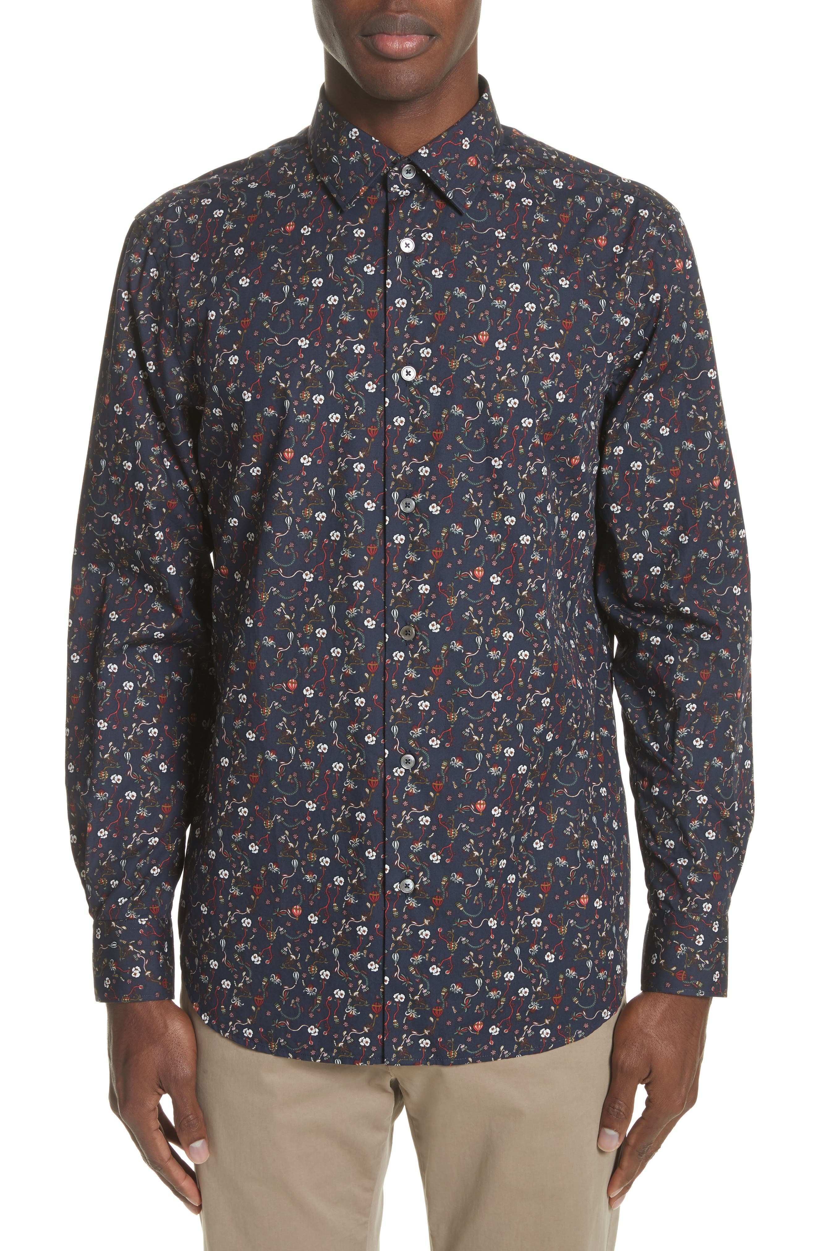Alternate Image 1 Selected - Paul Smith Floral Print Shirt