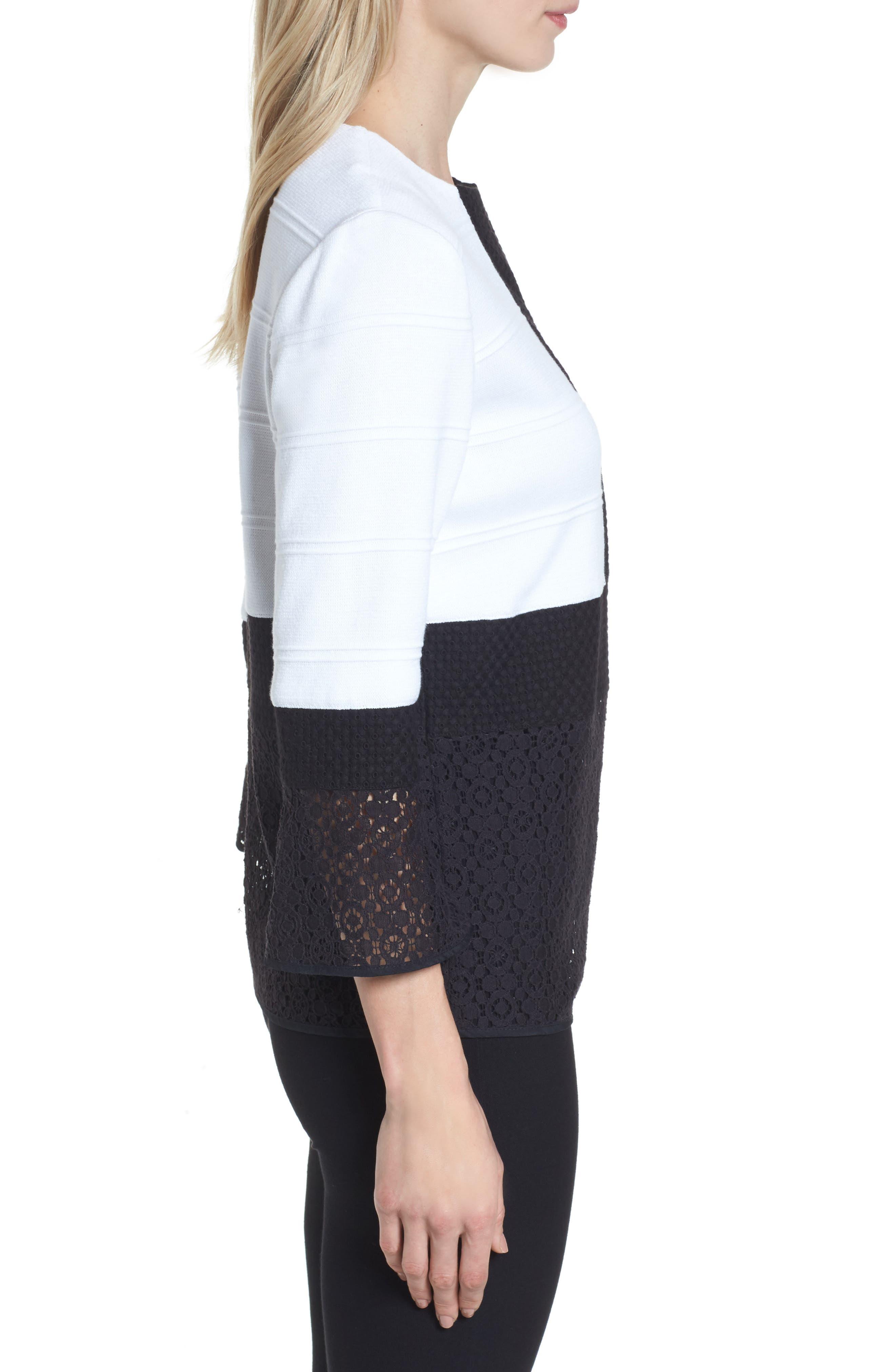 Alternate Image 3  - Ming Wang Knit & Lace Tunic