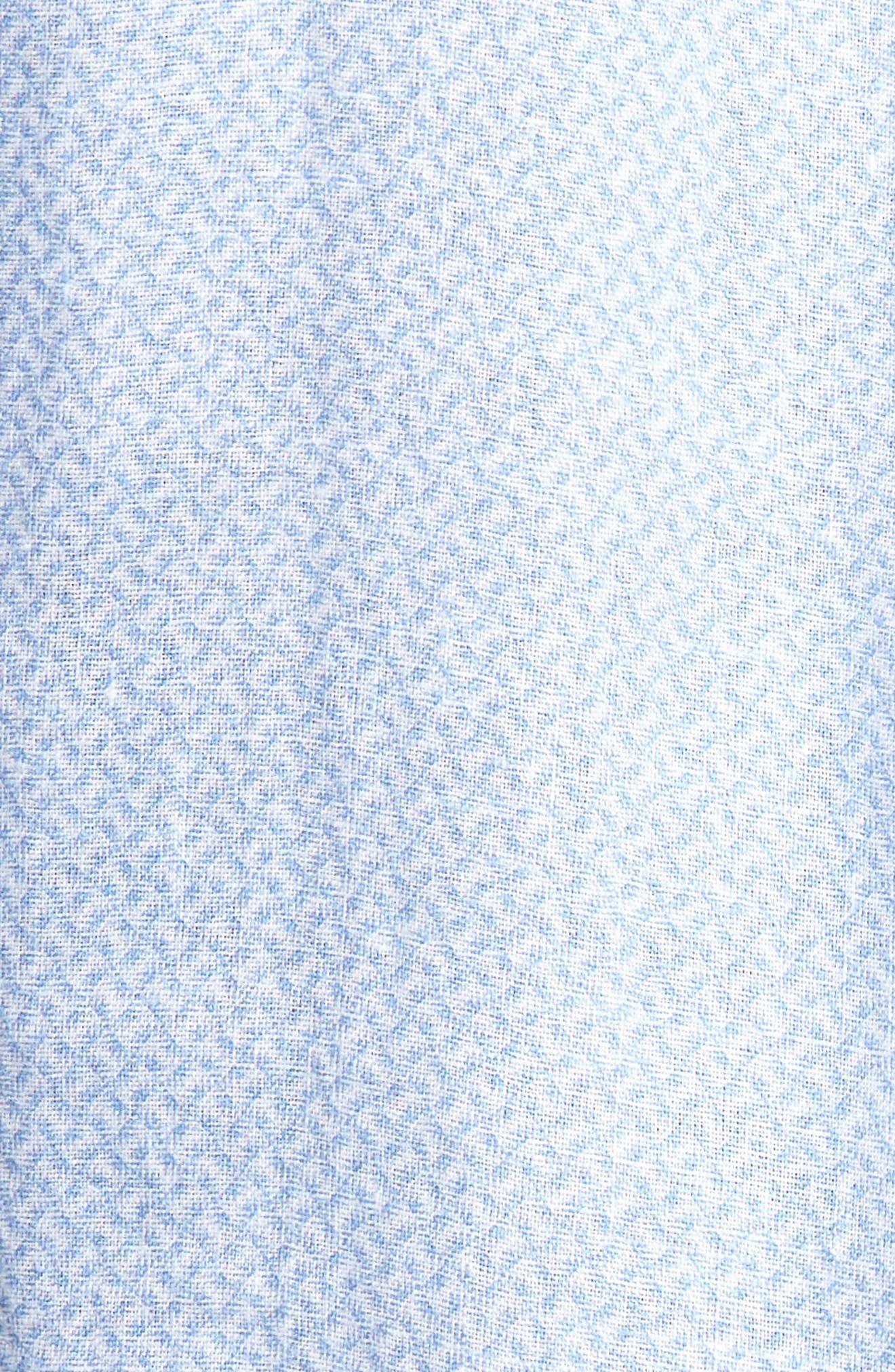 Whirlwind Regular Fit Linen Sport Shirt,                             Alternate thumbnail 5, color,                             Tar Heel Blue