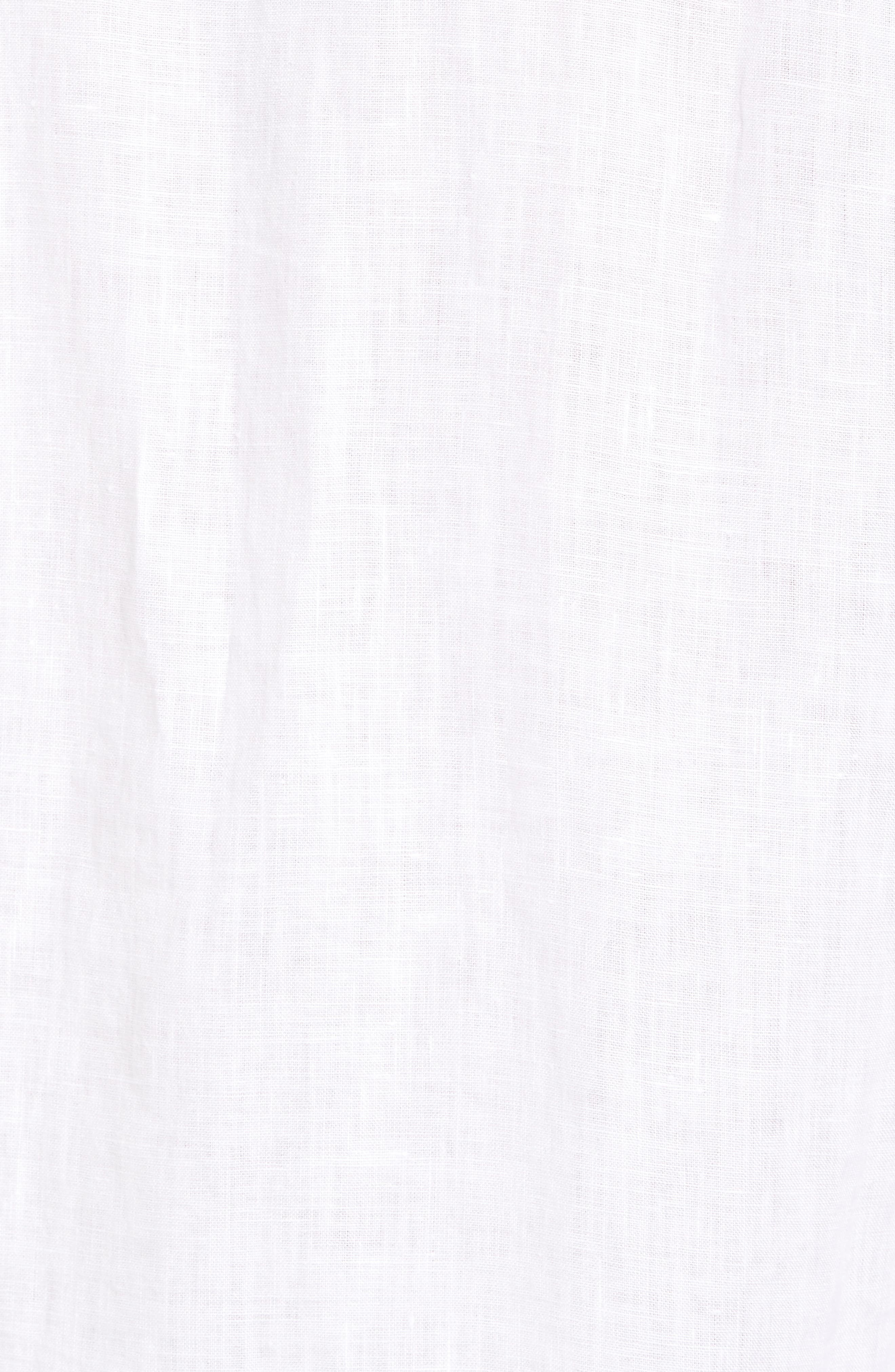 Down the Isle Regular Fit Linen Sport Shirt,                             Alternate thumbnail 5, color,                             White