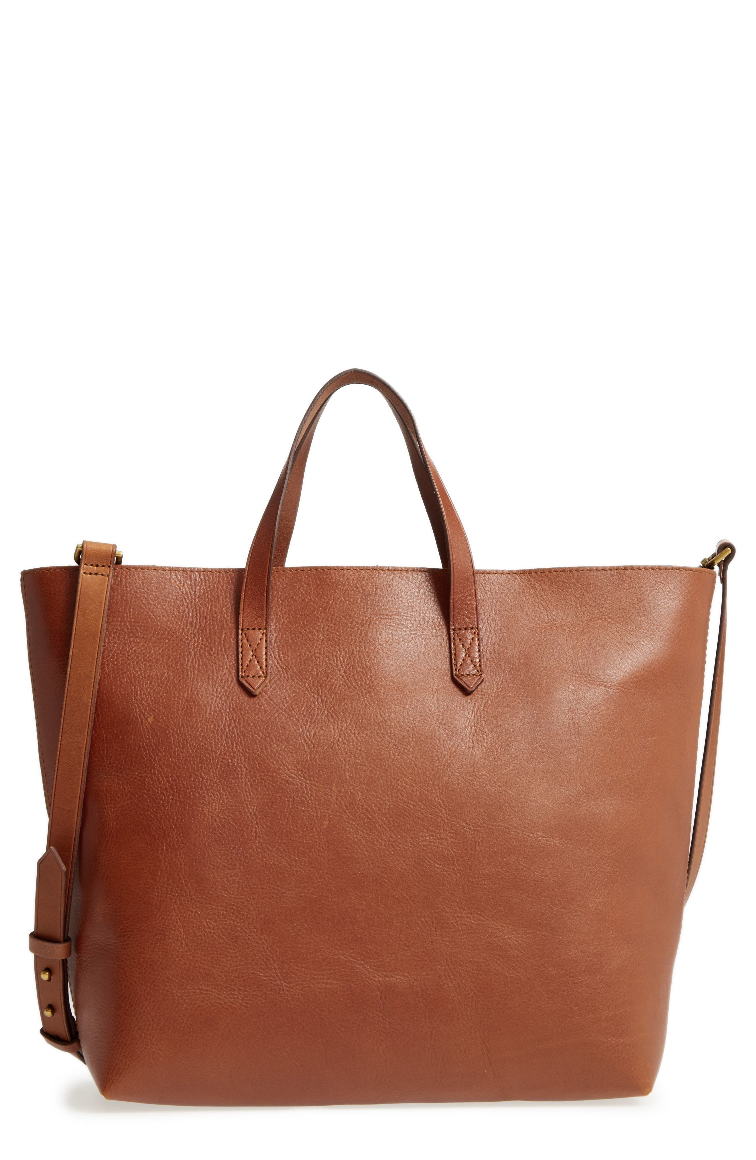Madewell Zip Top Leather Tote
