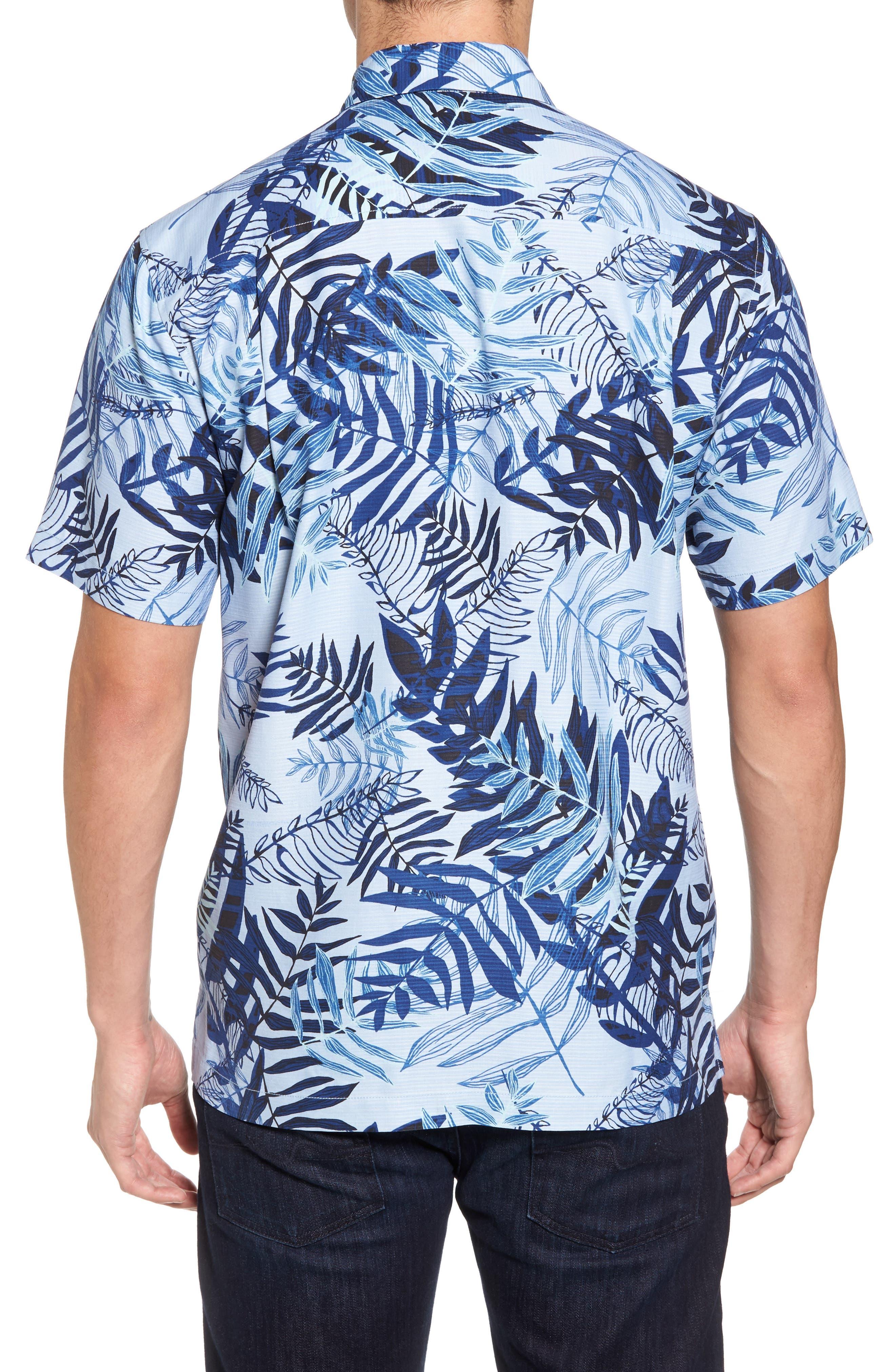 Glade Tropics Regular Fit Silk Sport Shirt,                             Alternate thumbnail 2, color,                             Fresh Air